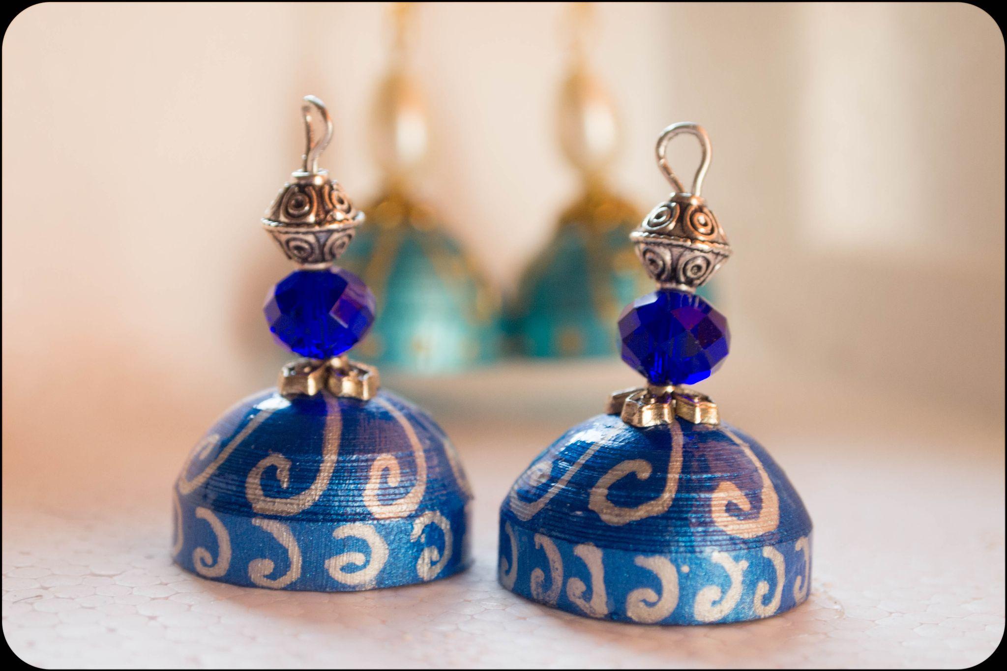 Blue Ear Rings by prashanth r