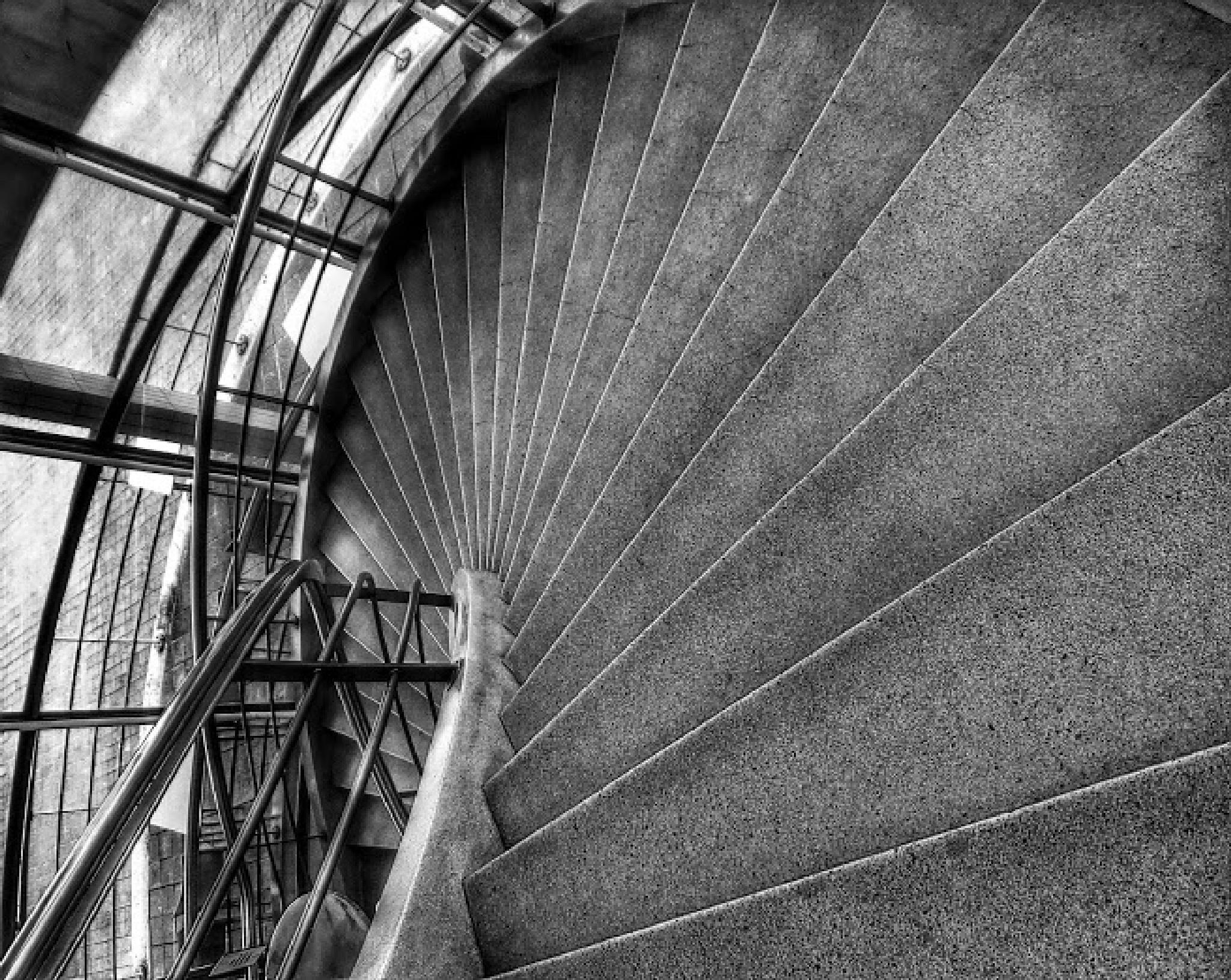 De La Warr stair by Jonathan Wood