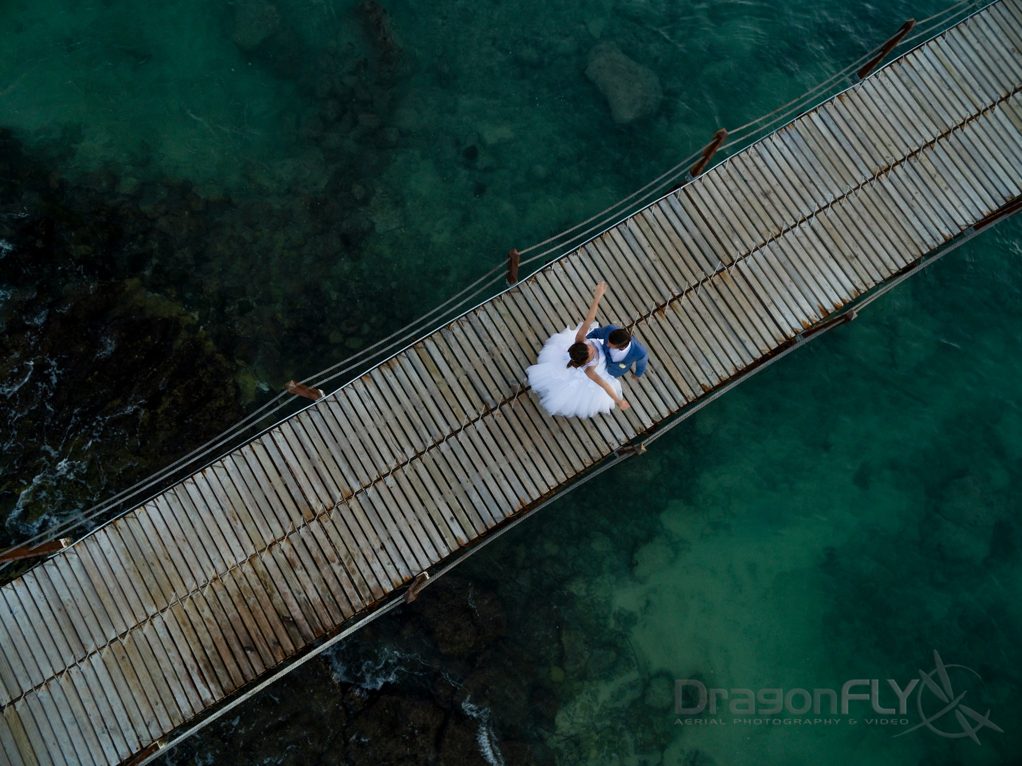 Wedding Jetty by Dragonfly_Aerial
