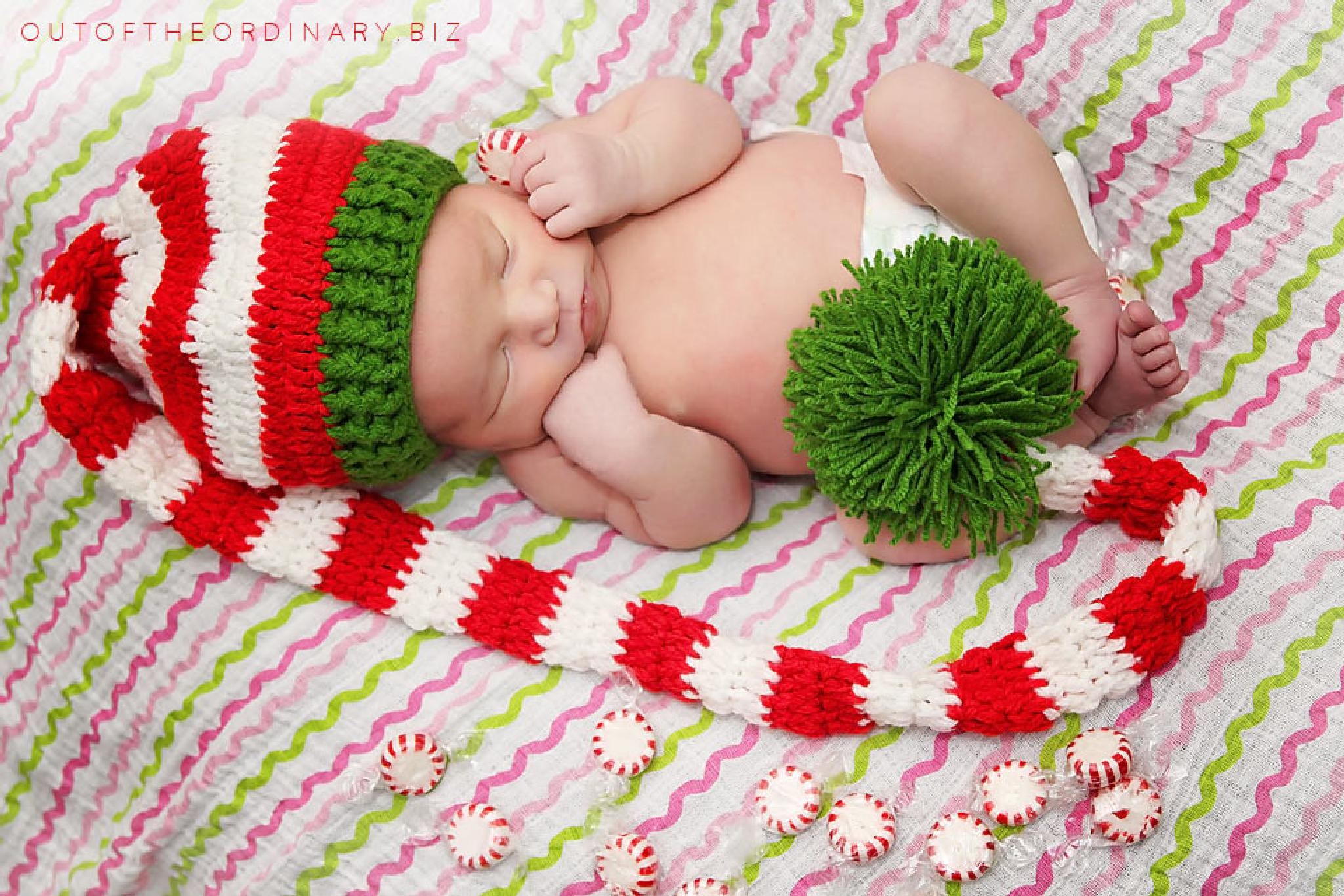 Photo in Portrait #baby #newborn #infant #session #july #christmas #hat #holiday #cute #suess #puff ball #candy #peppermint #outoftheordinary.biz #out of the ordinary #photography #holly greene
