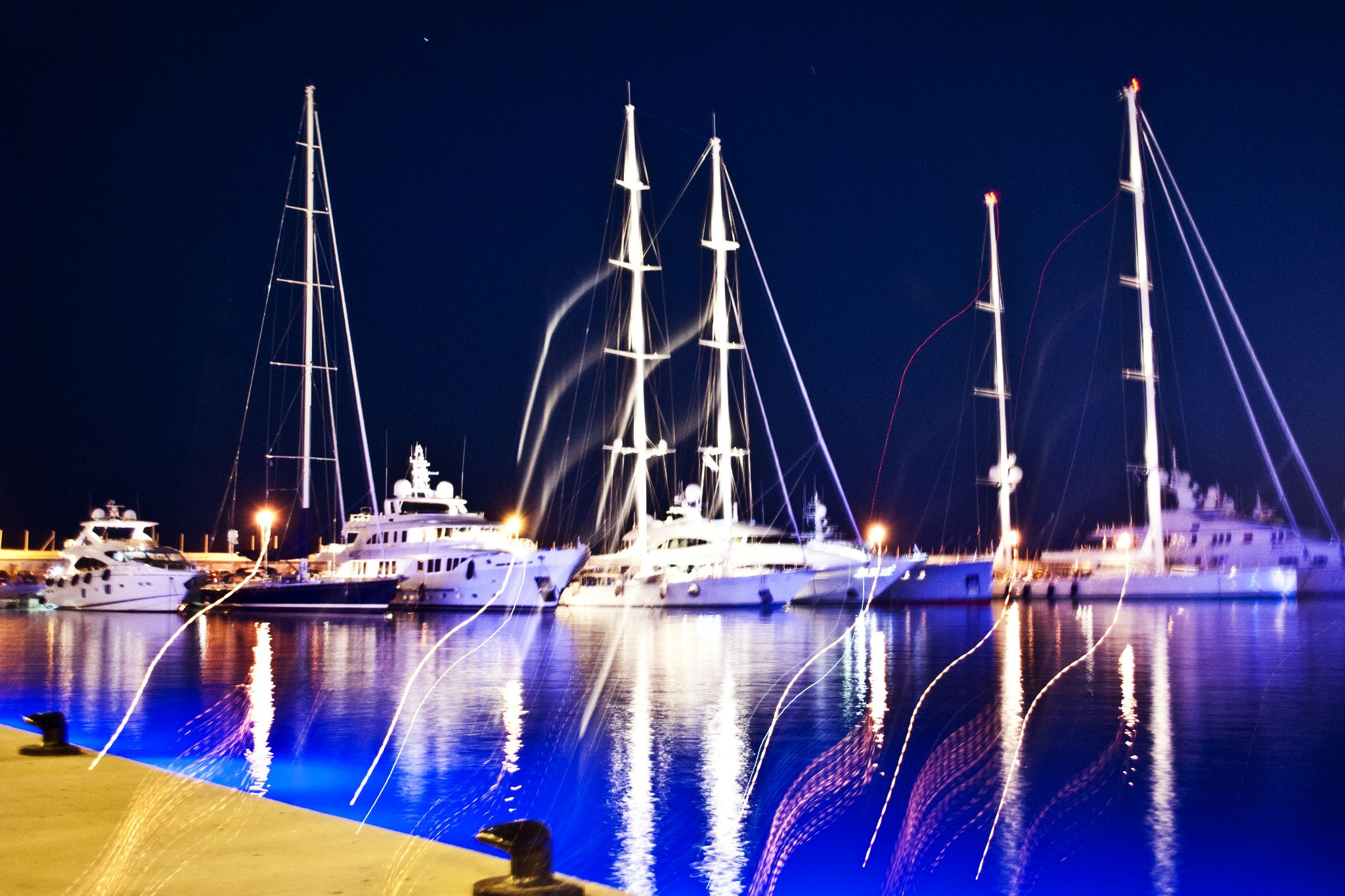 Marina Lights by Elkart_Photography