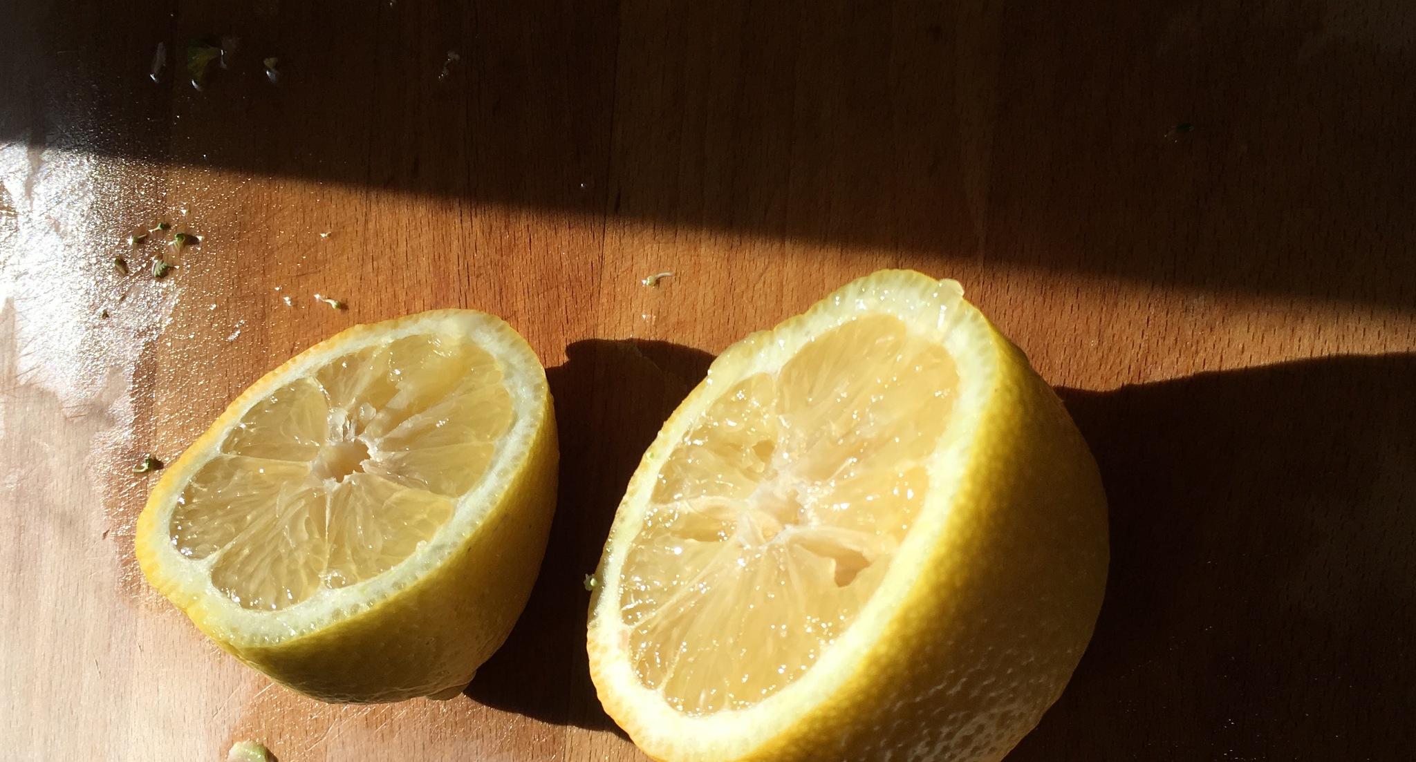 Cut Lemon by CaliforniaPeggy