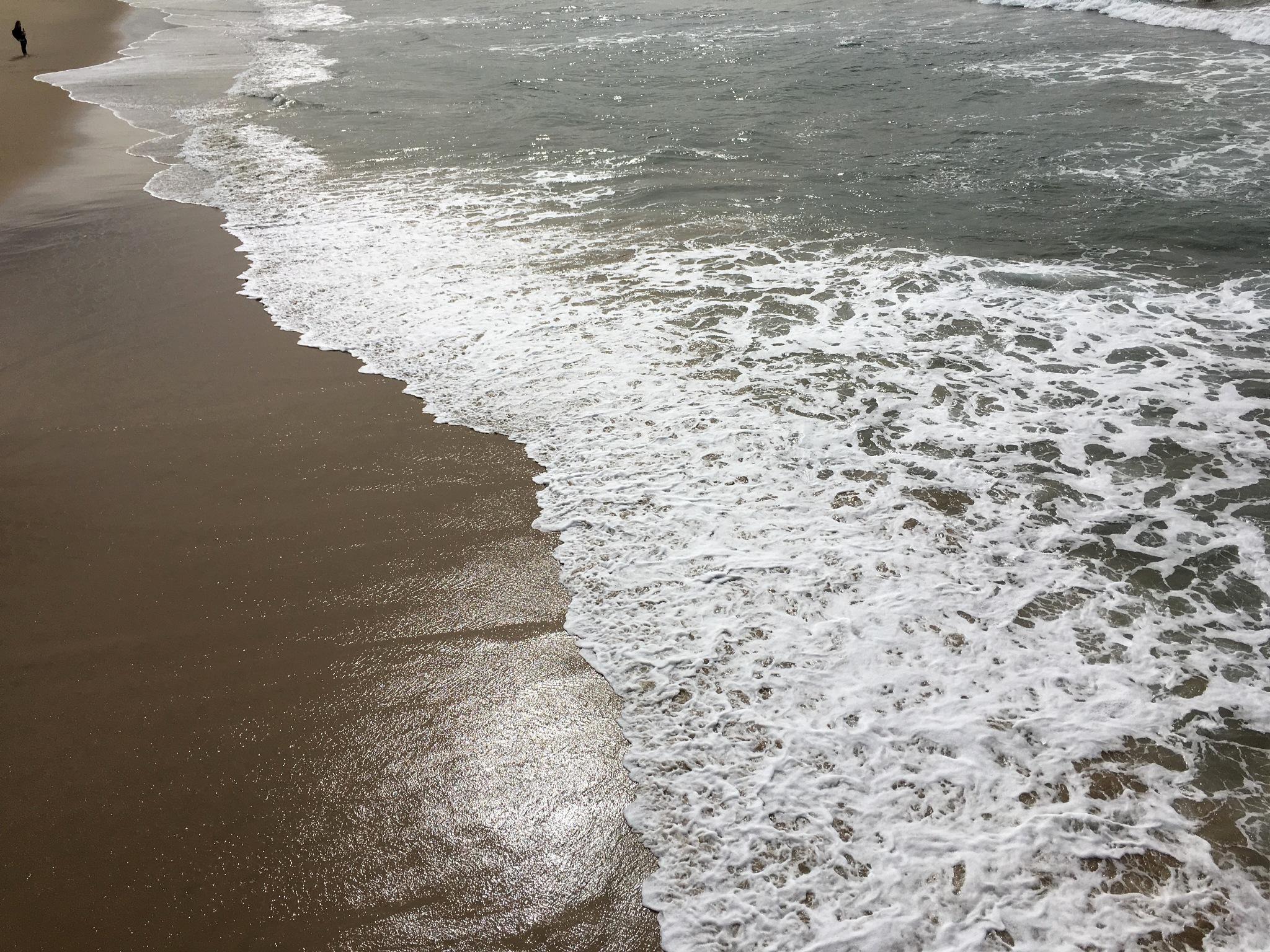 Photo in Sea and Sand #ocean #beach #waves #foamy