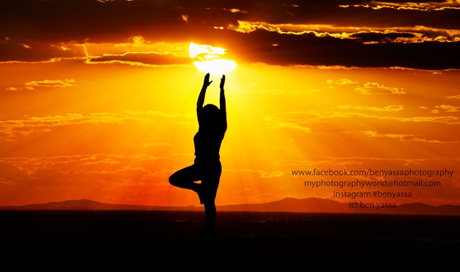Photo in People #yoga #fitness #sport #people #sunset #nature #landscape #ben #yassa #benyassa