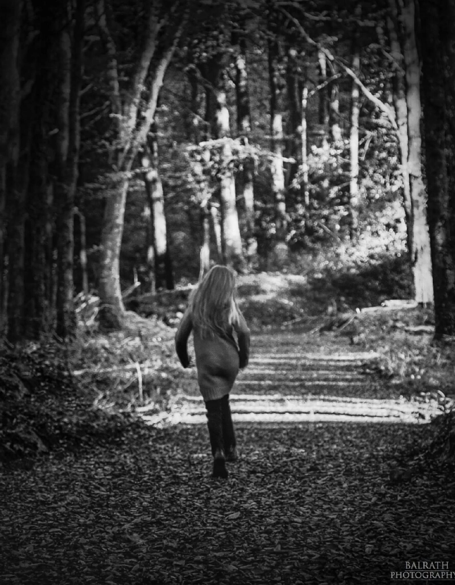 skipping through the forest  by BALRATH PHOTOGRAPHY
