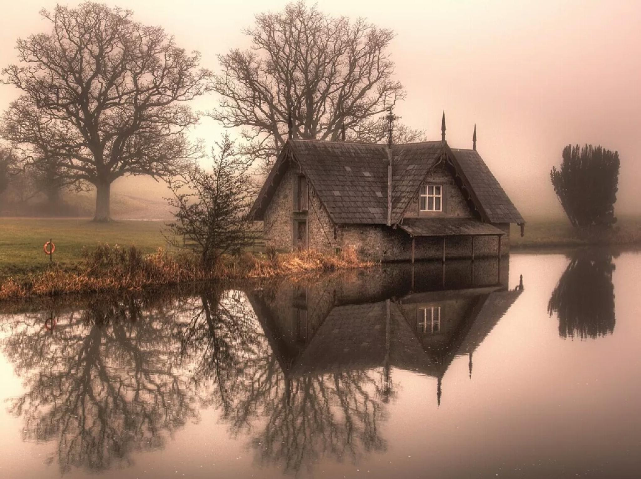 A foggy morning at the Boathouse  by BALRATH PHOTOGRAPHY