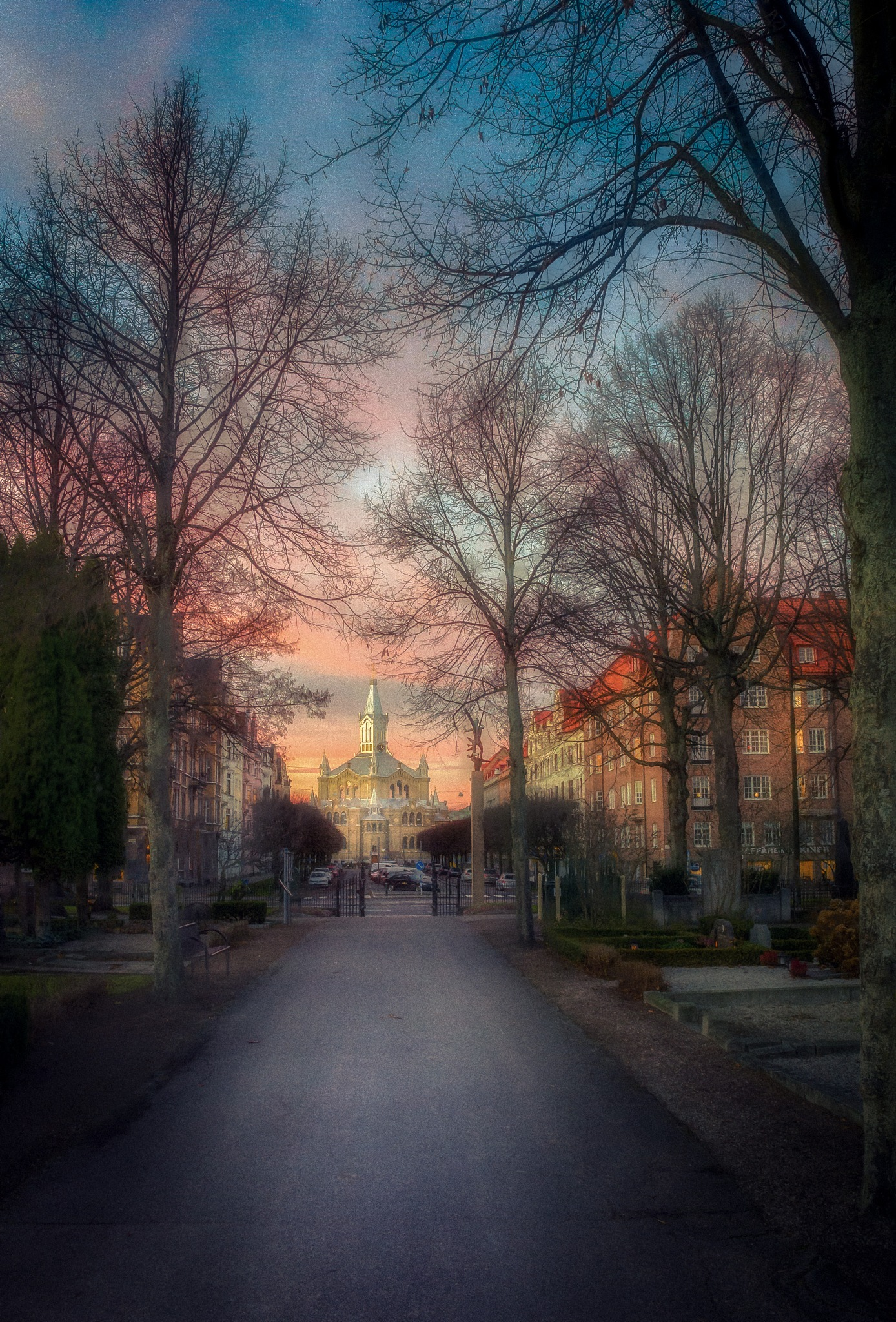 Cemetery road by Mirza Buljusmic