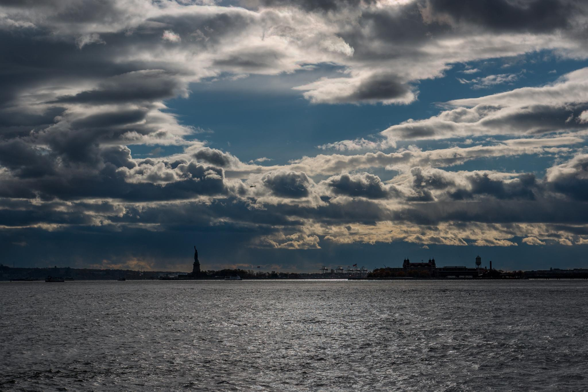 Nice Light Over Lady Liberty by Gareth Sawbridge