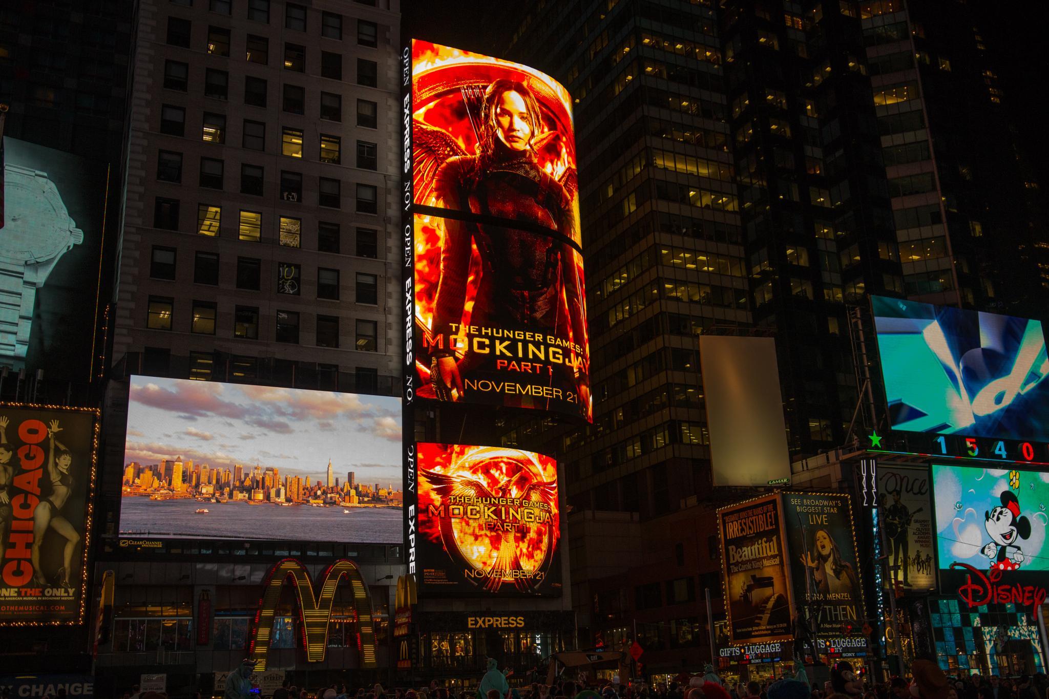 Times Square - Hunger Games by Gareth Sawbridge