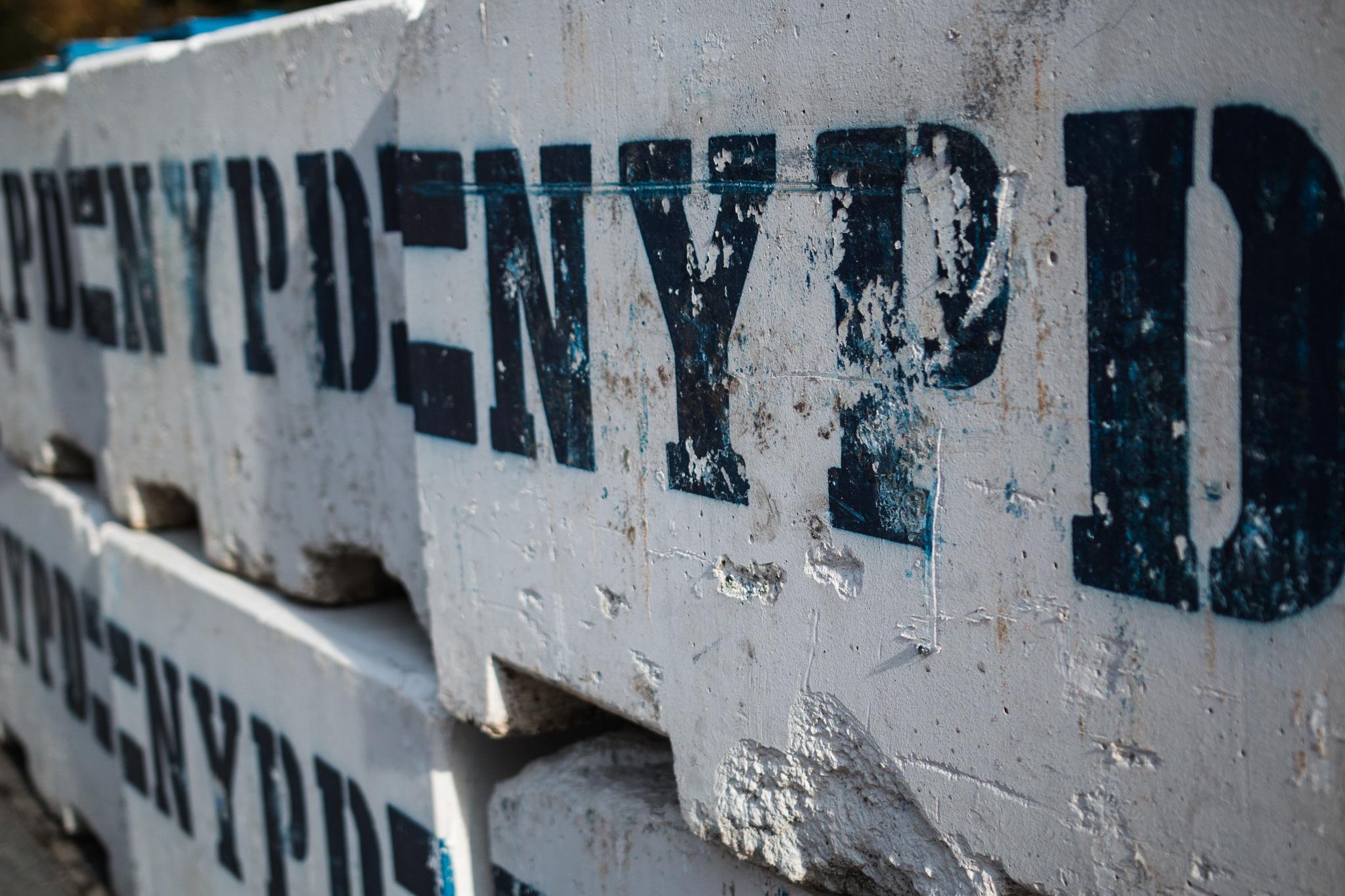 NYPD Blockade by Gareth Sawbridge