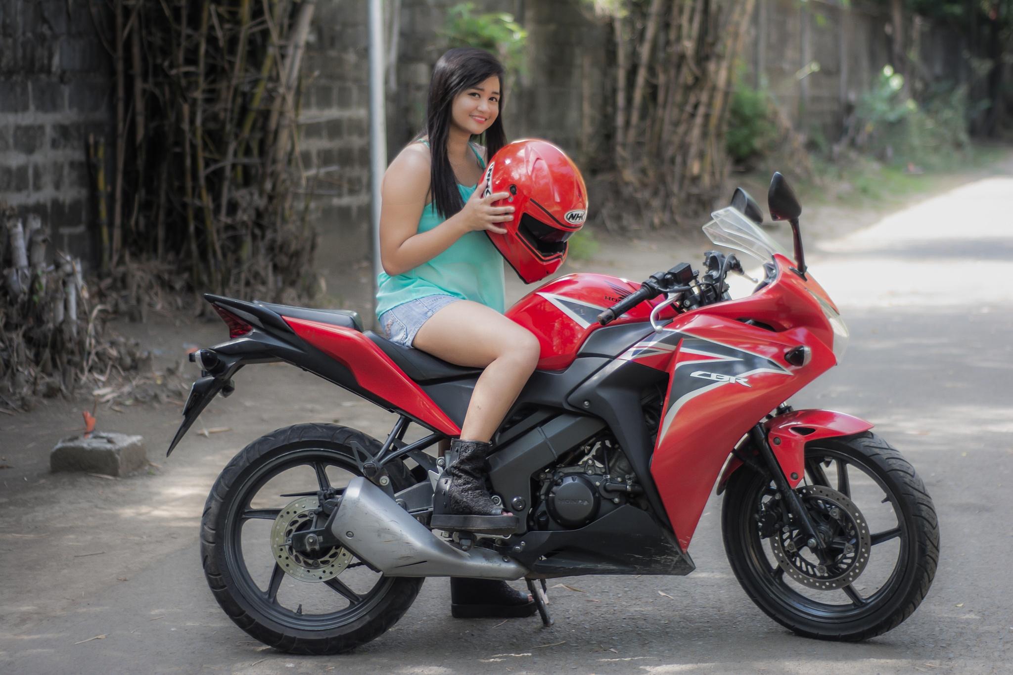Motorcycle Rider girl by ariel.ladrido.9
