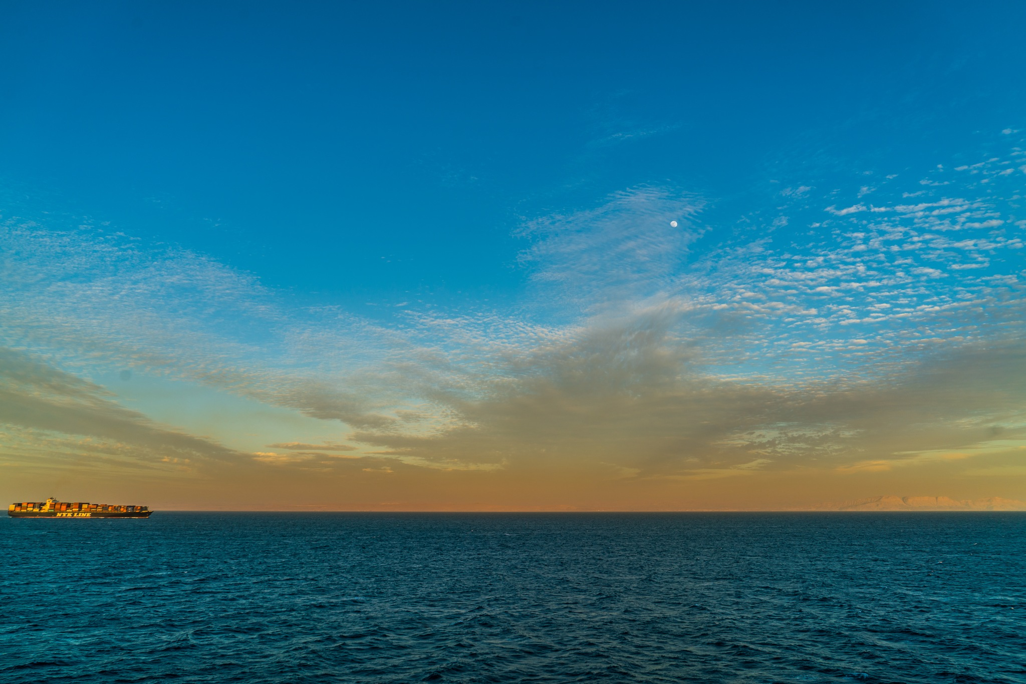 Leaving the Suez Canal by BernArt Photography