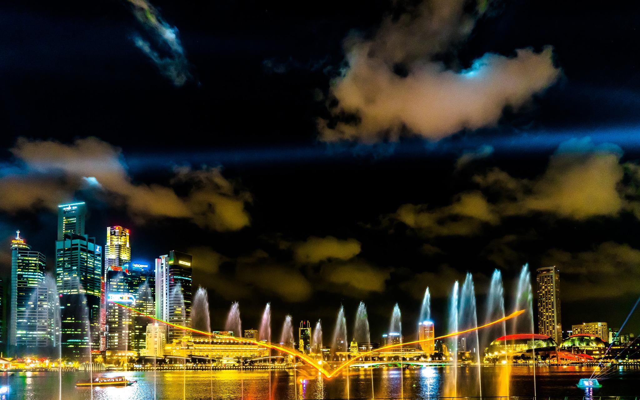 Singapore light show II by BernArt Photography