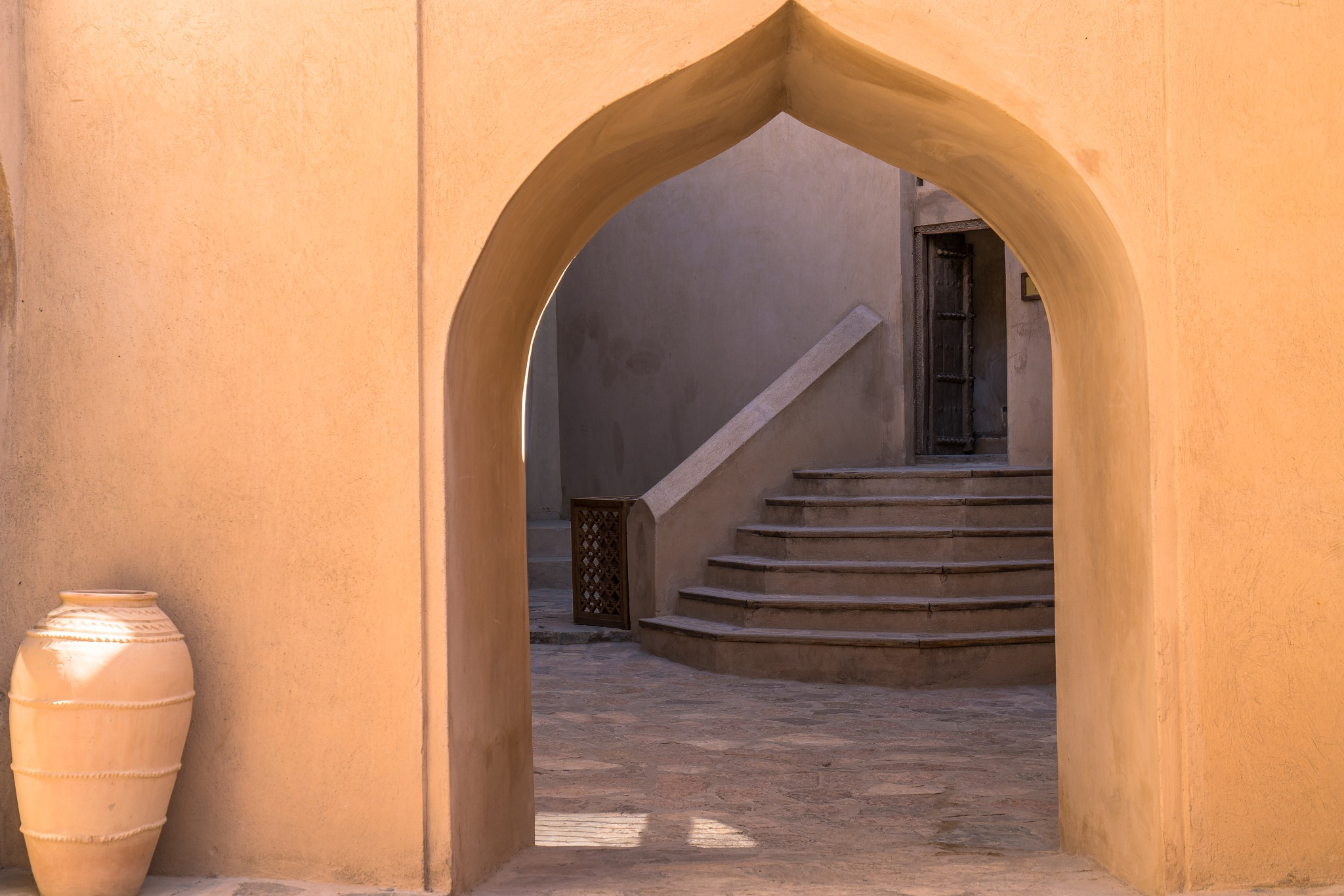Doorway to courtyard by BernArt Photography