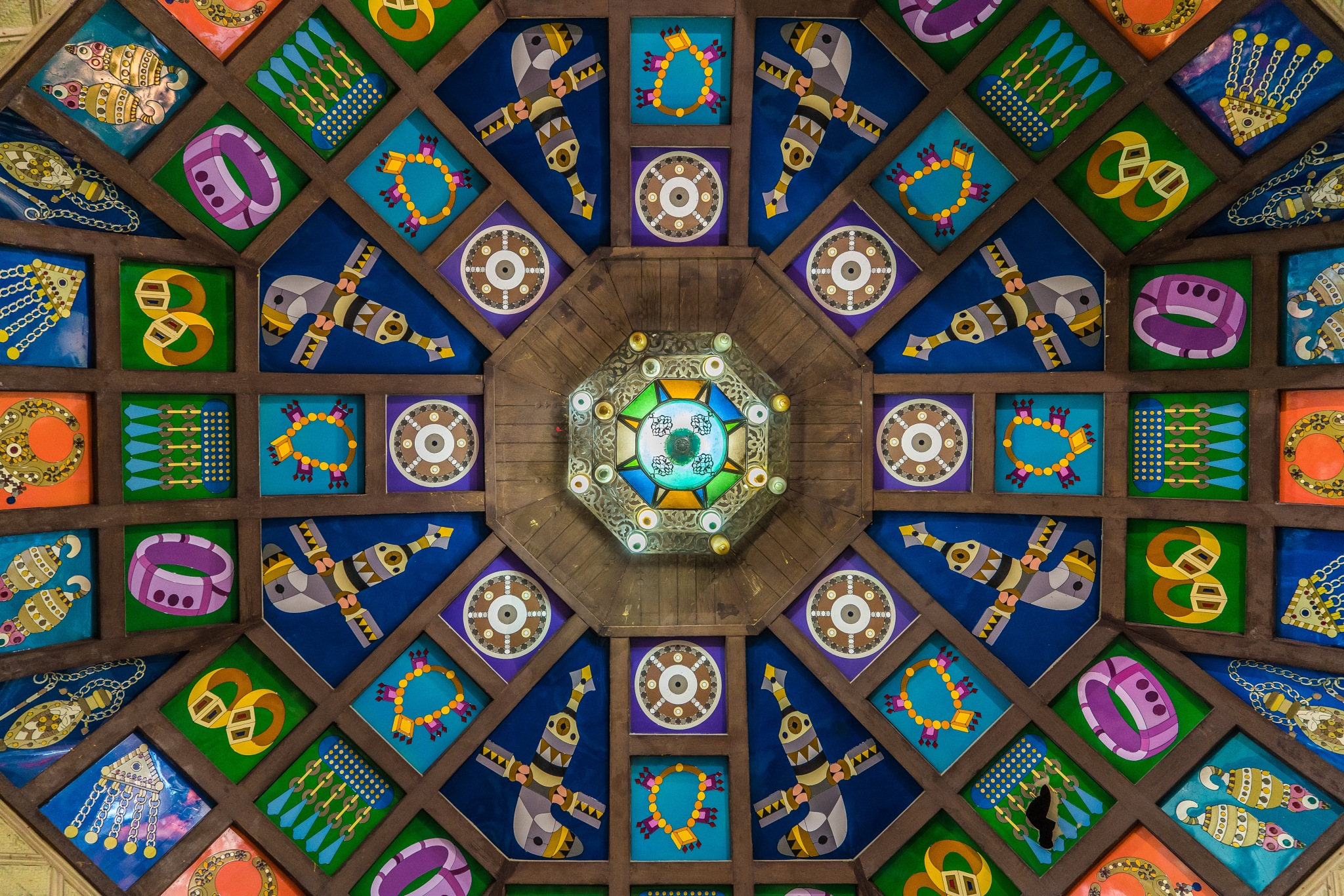 Ceiling at the Mutrah Souq in Muscat  by BernArt Photography