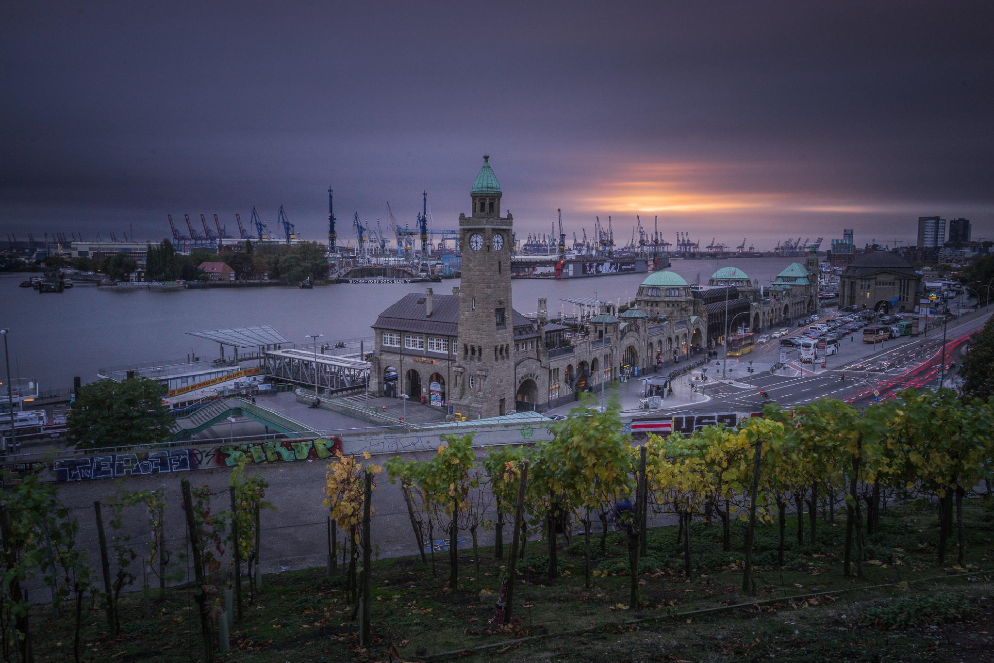 Hamburg Harbour Sunset by Licht Werk