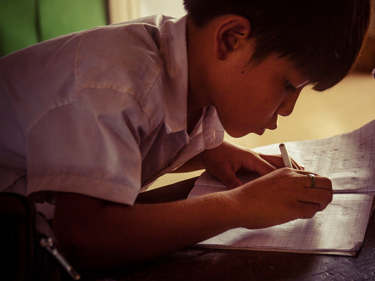 A Portrait in A Cambodian Classroom by wwfax photography