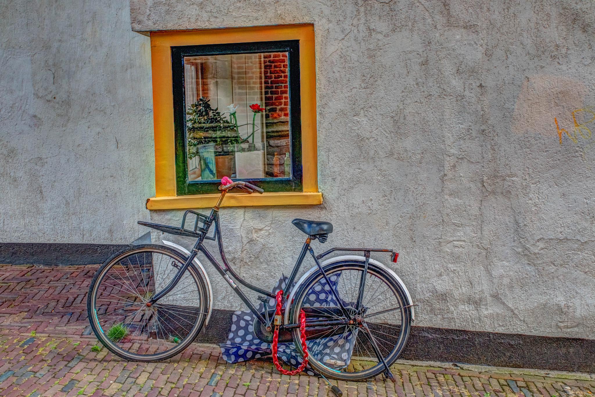 Bike in Old Centre of Amersfoort by Herman de Raaf