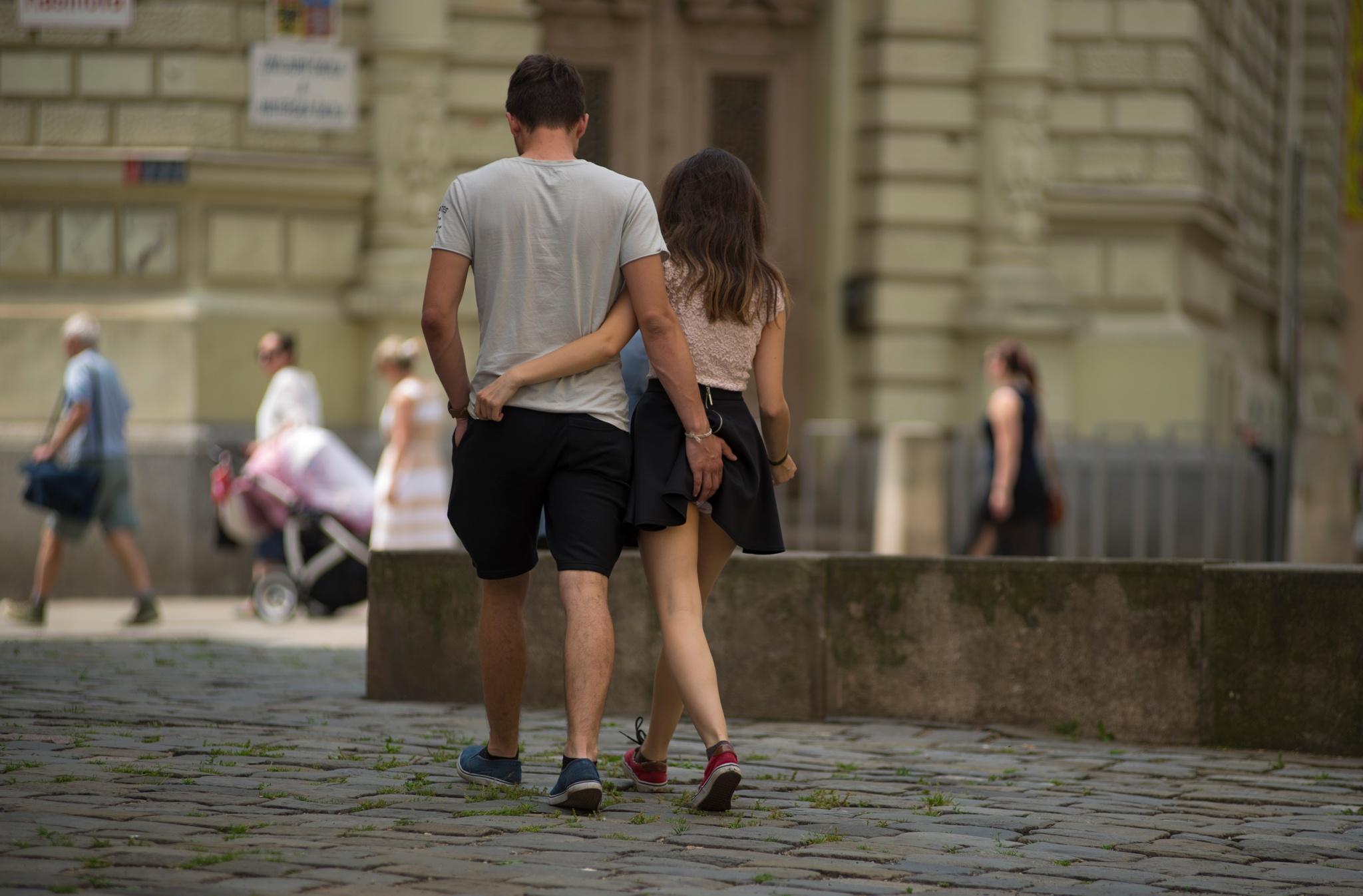 Photo in Street Photography #muž #žena #město #barva #brno