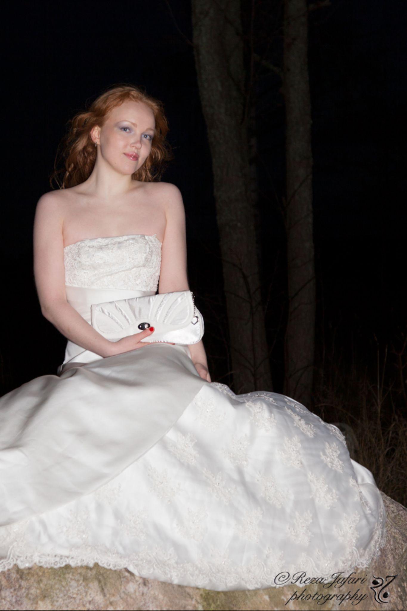 White bride dress by ArianJafari