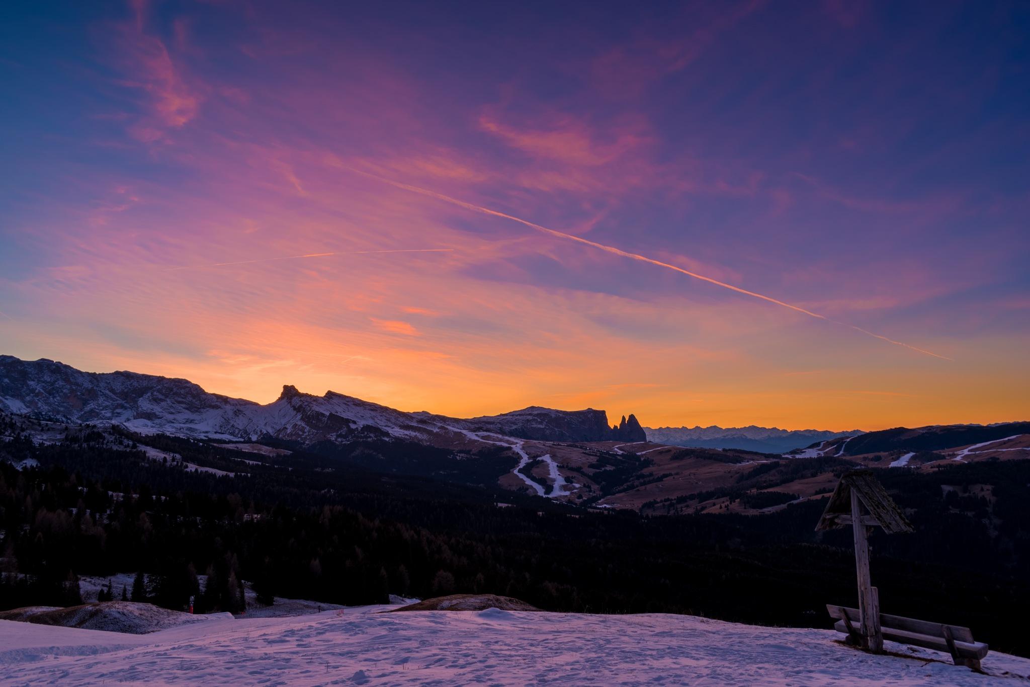 Photo in Landscape #dolomites #sunset #mountains #landscape