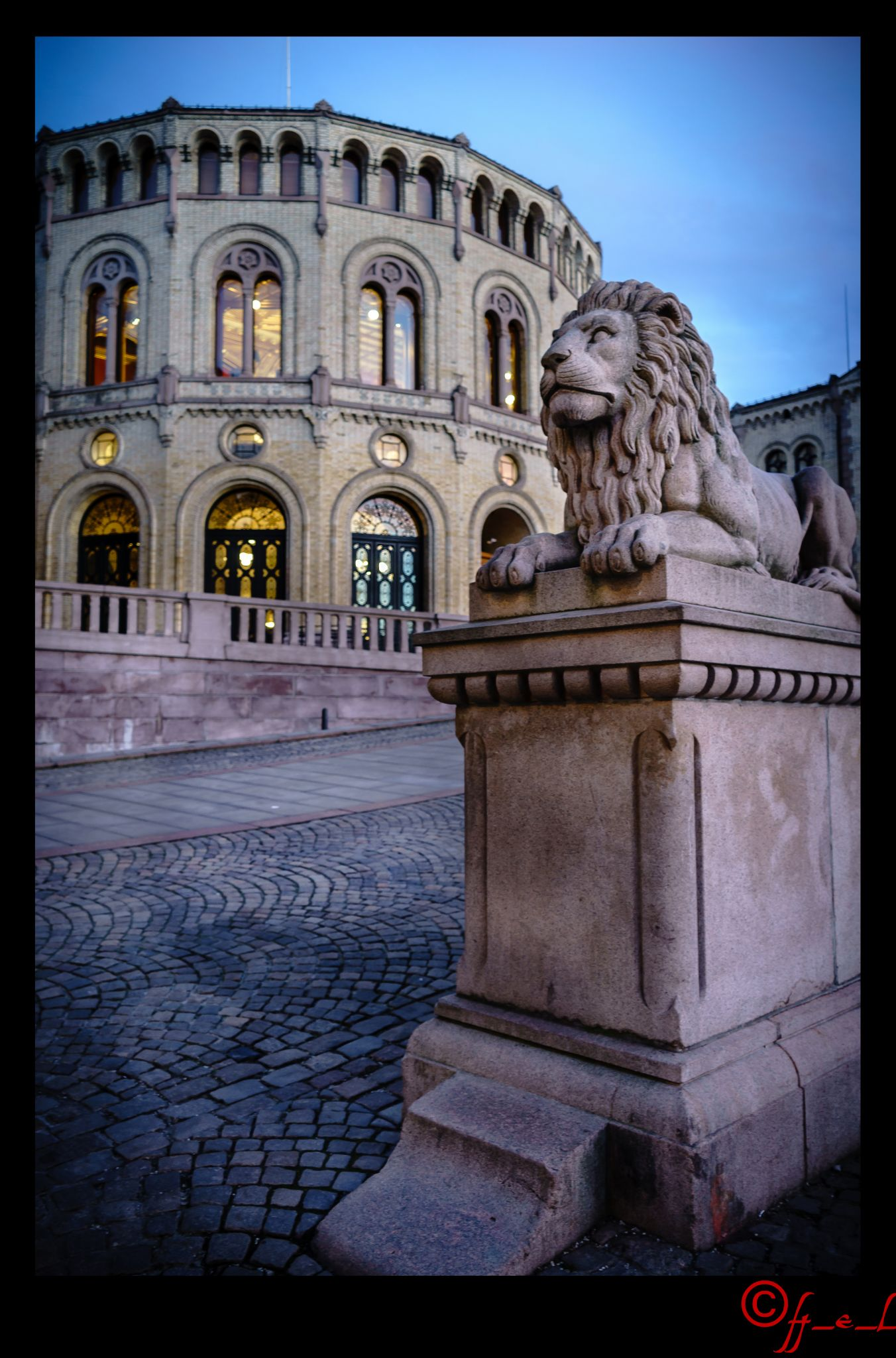 Norwegian Parliament by H_E_L