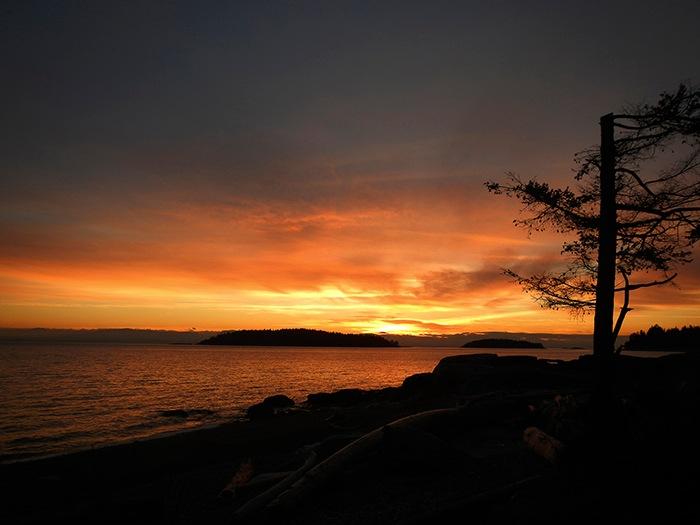 Snickett Park Sechelt sunset by elaine