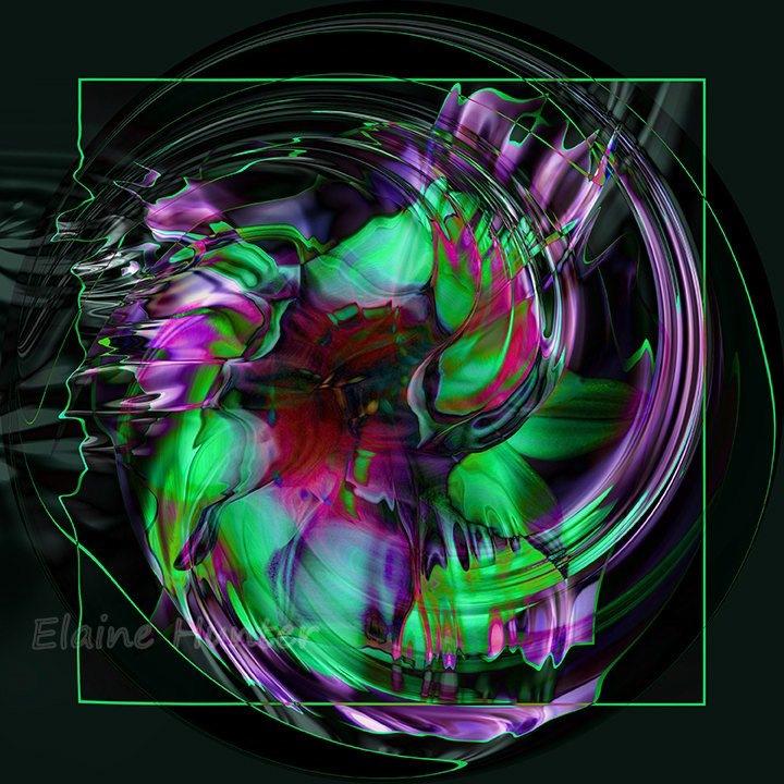 Daisy Abstract by elaine