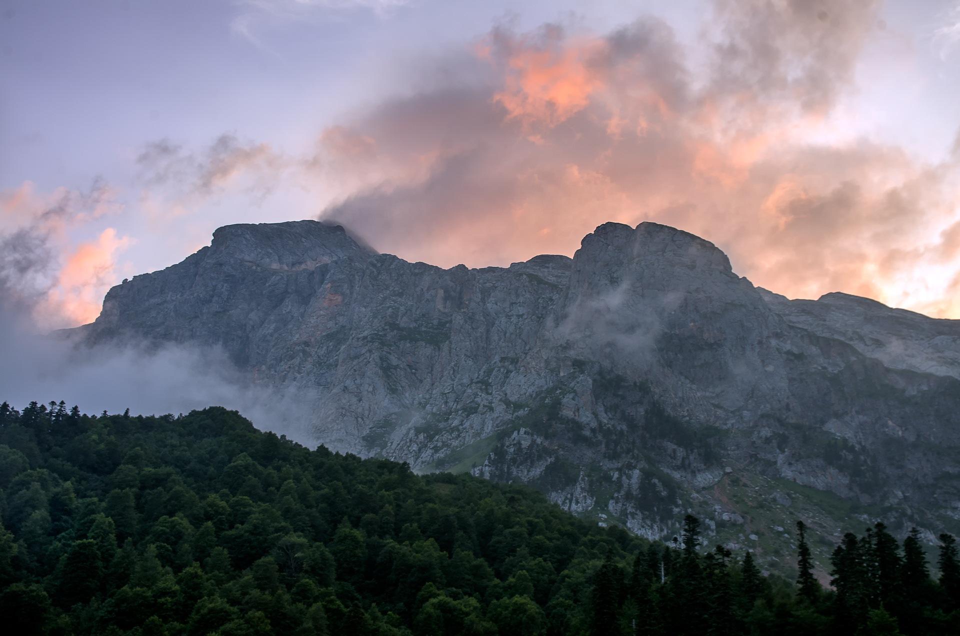 Morning on mountain Fischt. by Roman Prikhodko