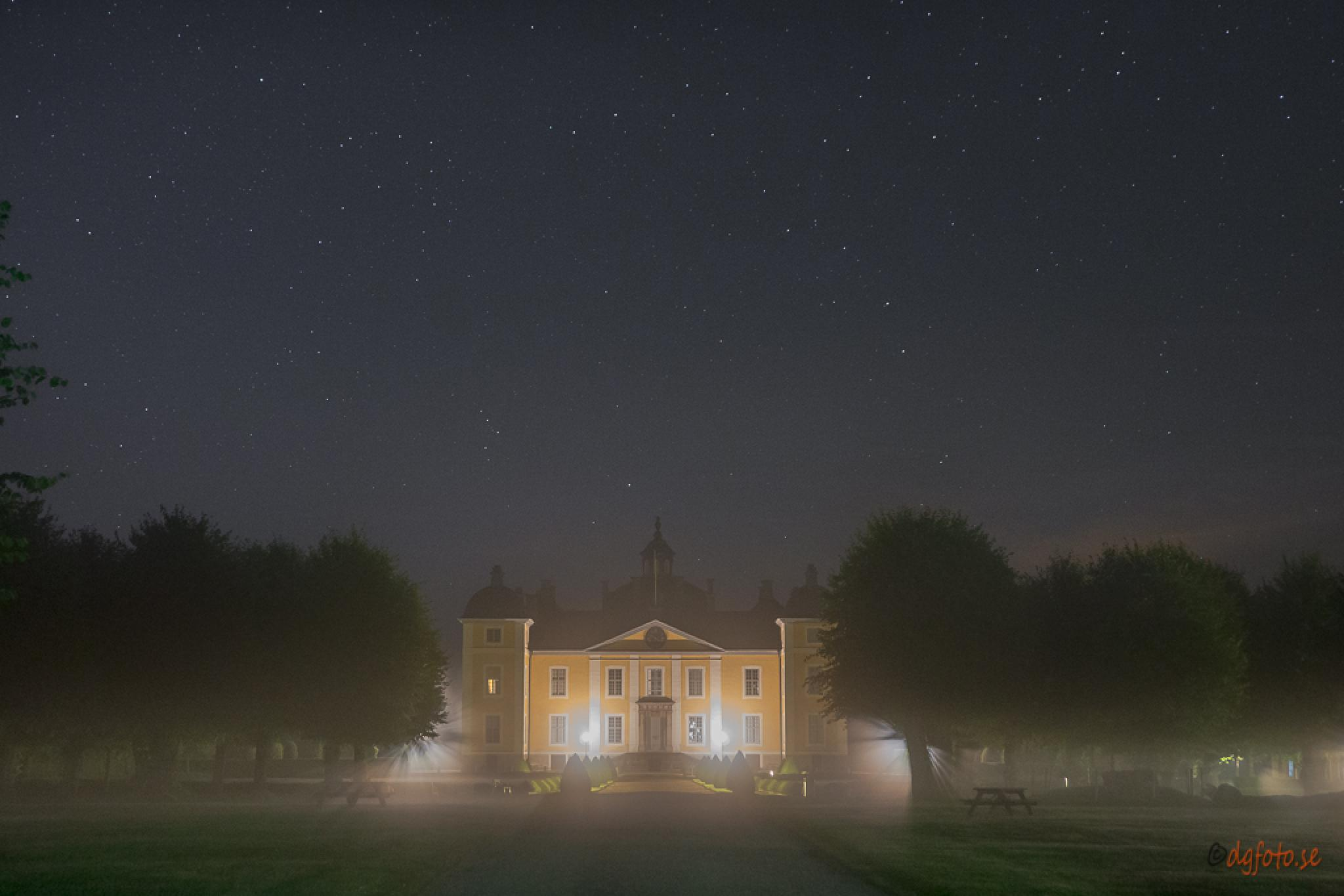 Strömsholms Castle in the fog by Dennis Graversen