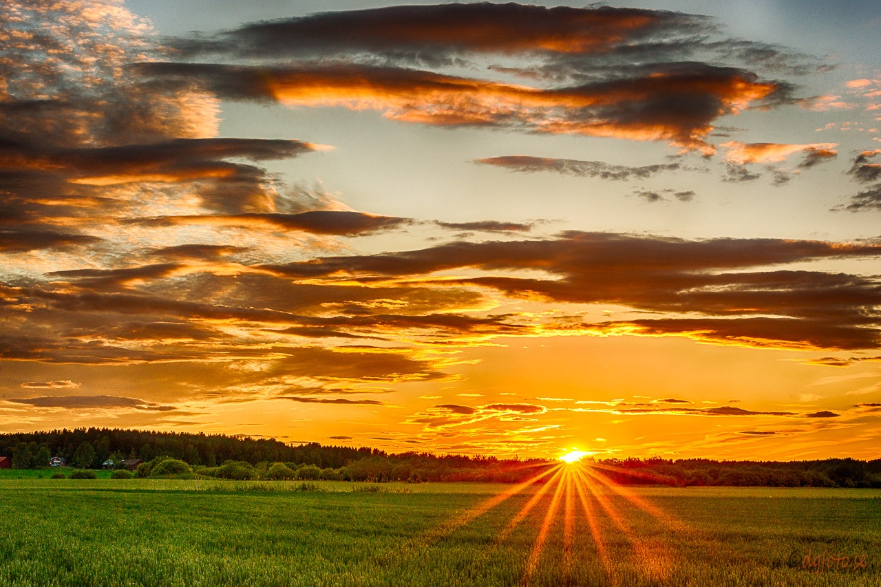 Sunset on Summer solstice  by Dennis Graversen