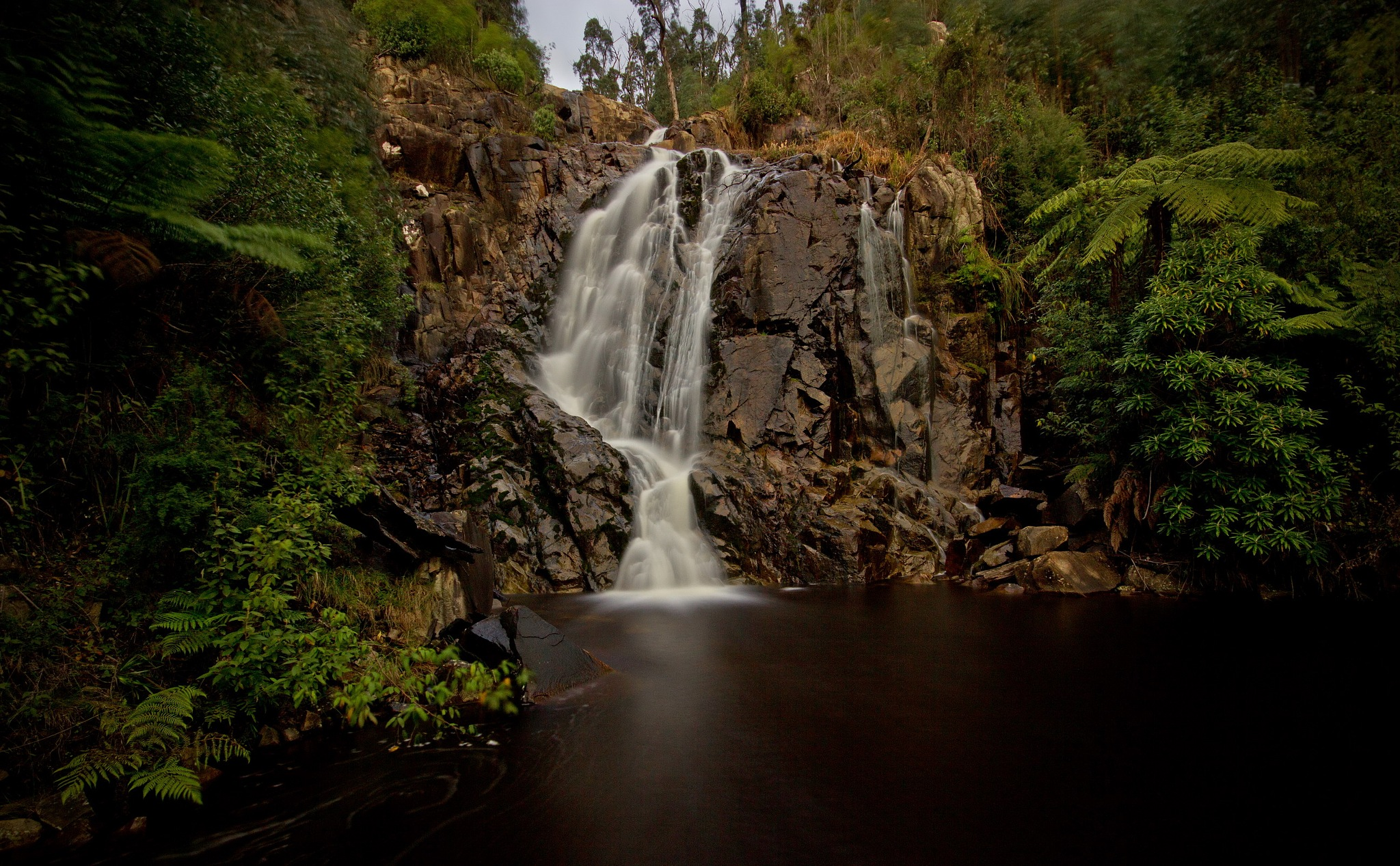 Steavenson Falls by Mark Vivian