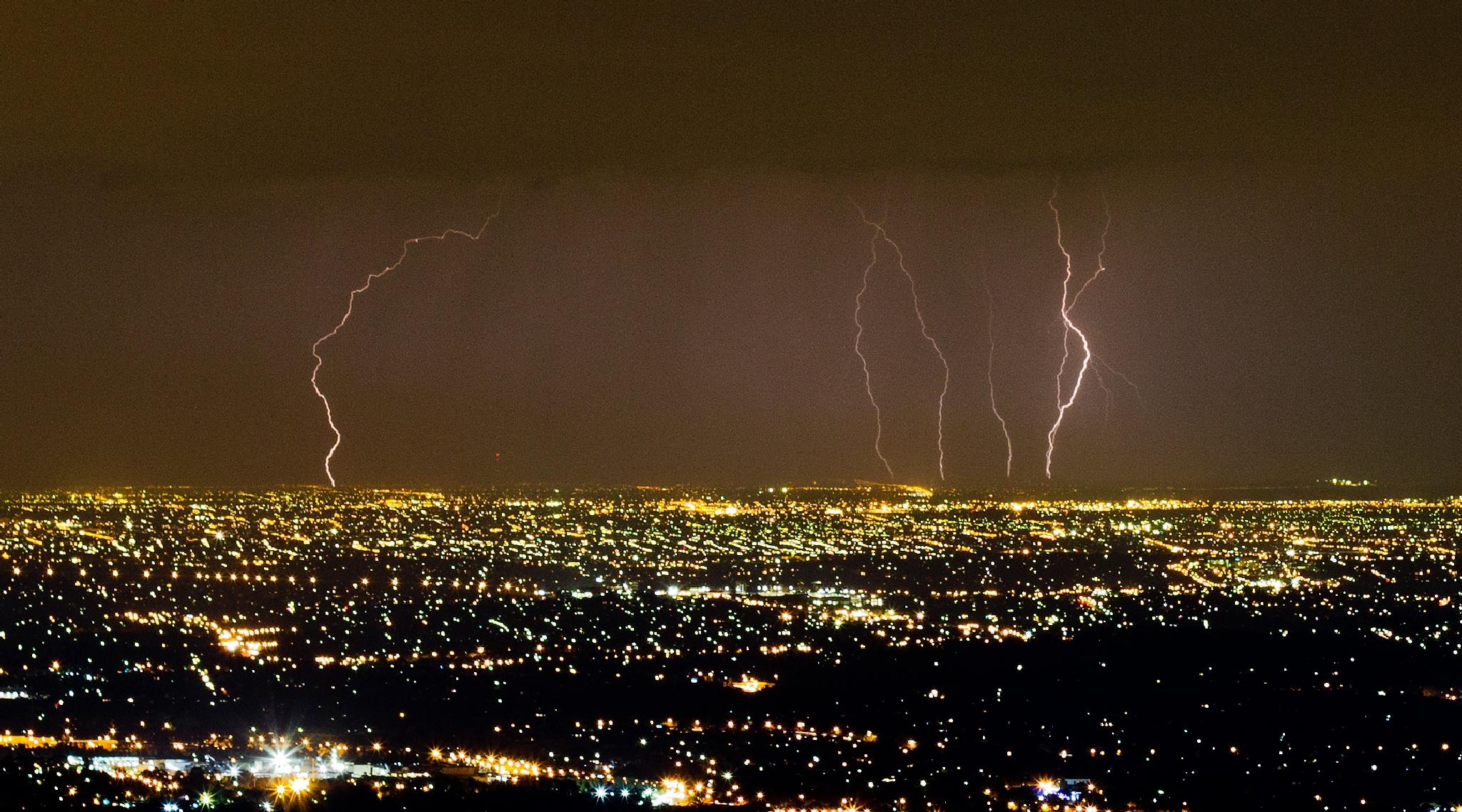 City Lightning by Mark Vivian