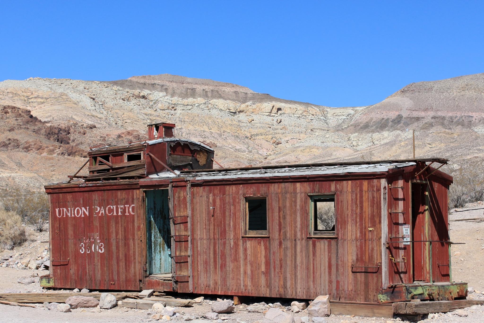 Union Pacific, Rhyolite Nevada by katze