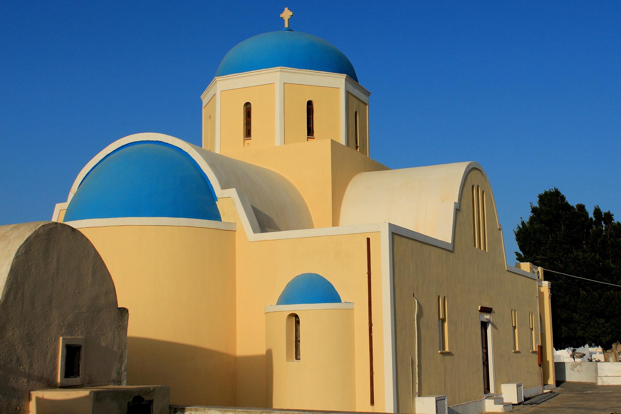 orthodox church, Oia Santorini by katze