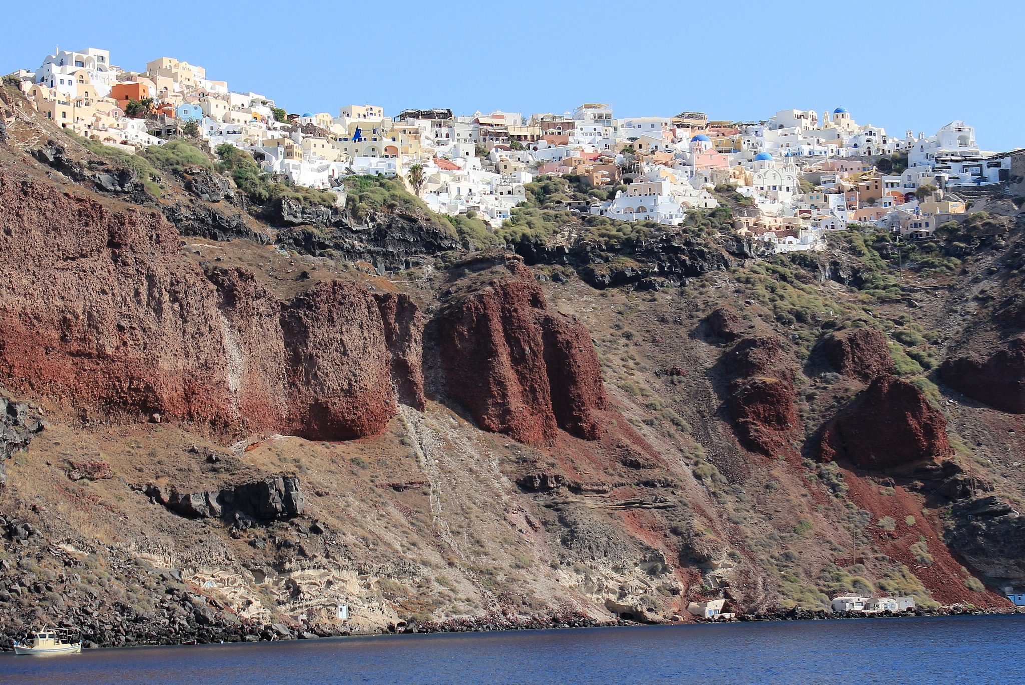 Oia, view from Boat by katze