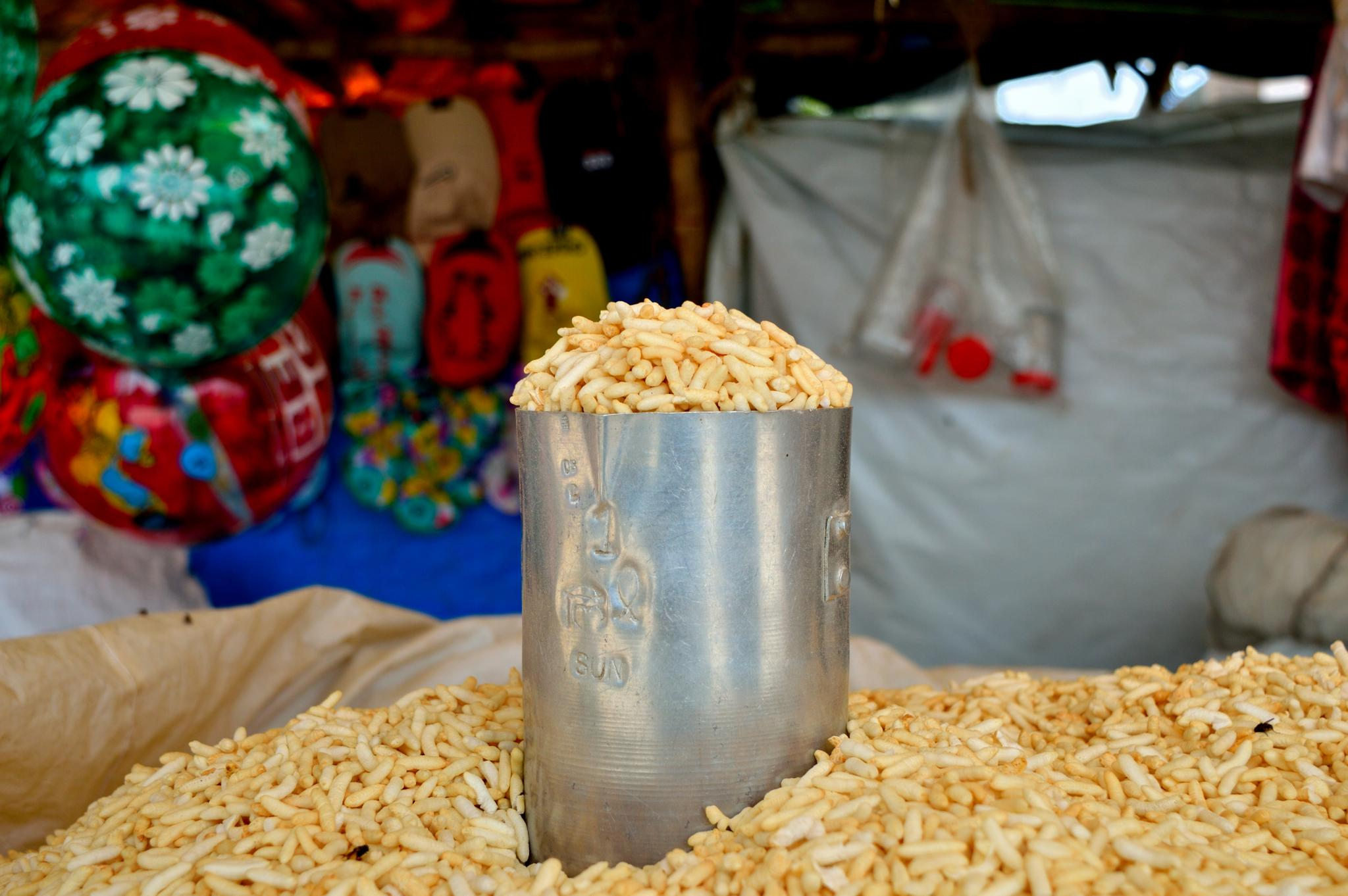 Selling puffed rice  by Sudharshan
