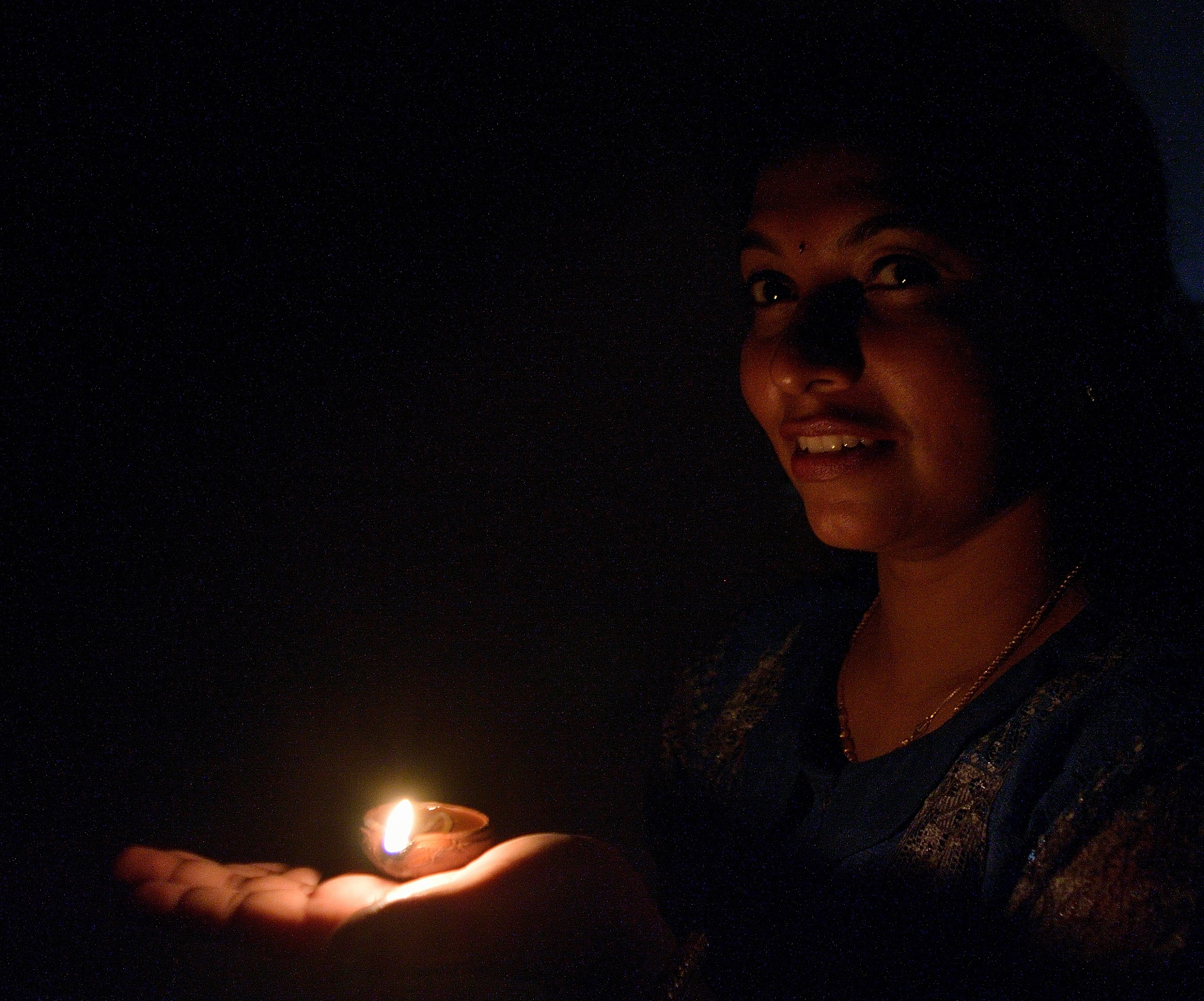 Portrait with the lamp!!! by Sudharshan