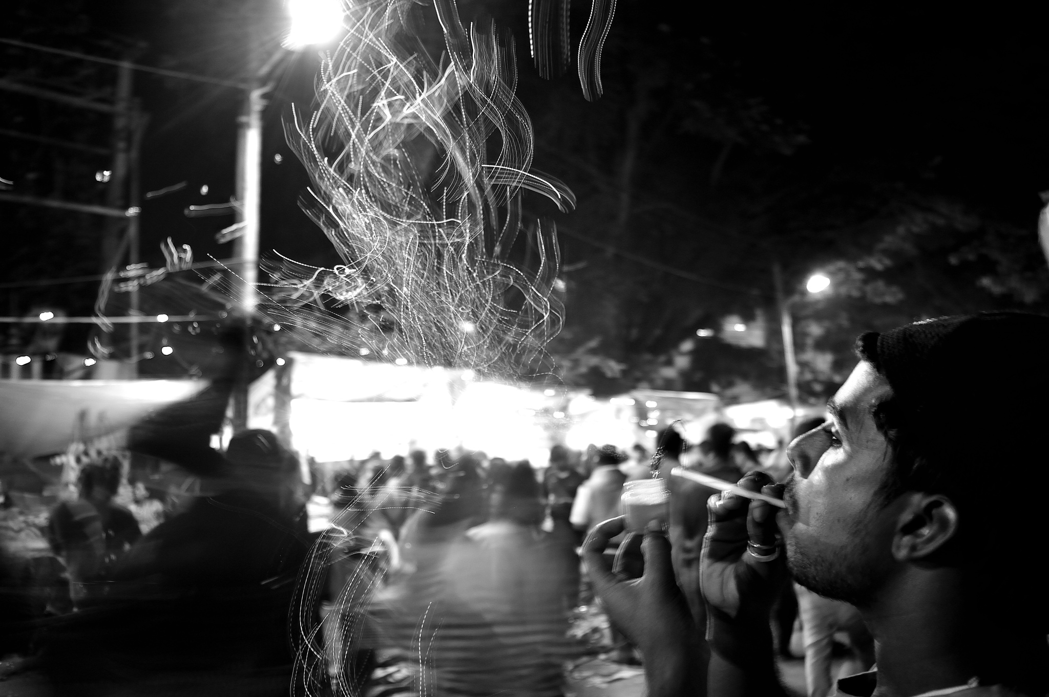Bubble captured in slow shutter speed, B&W!!! by Sudharshan