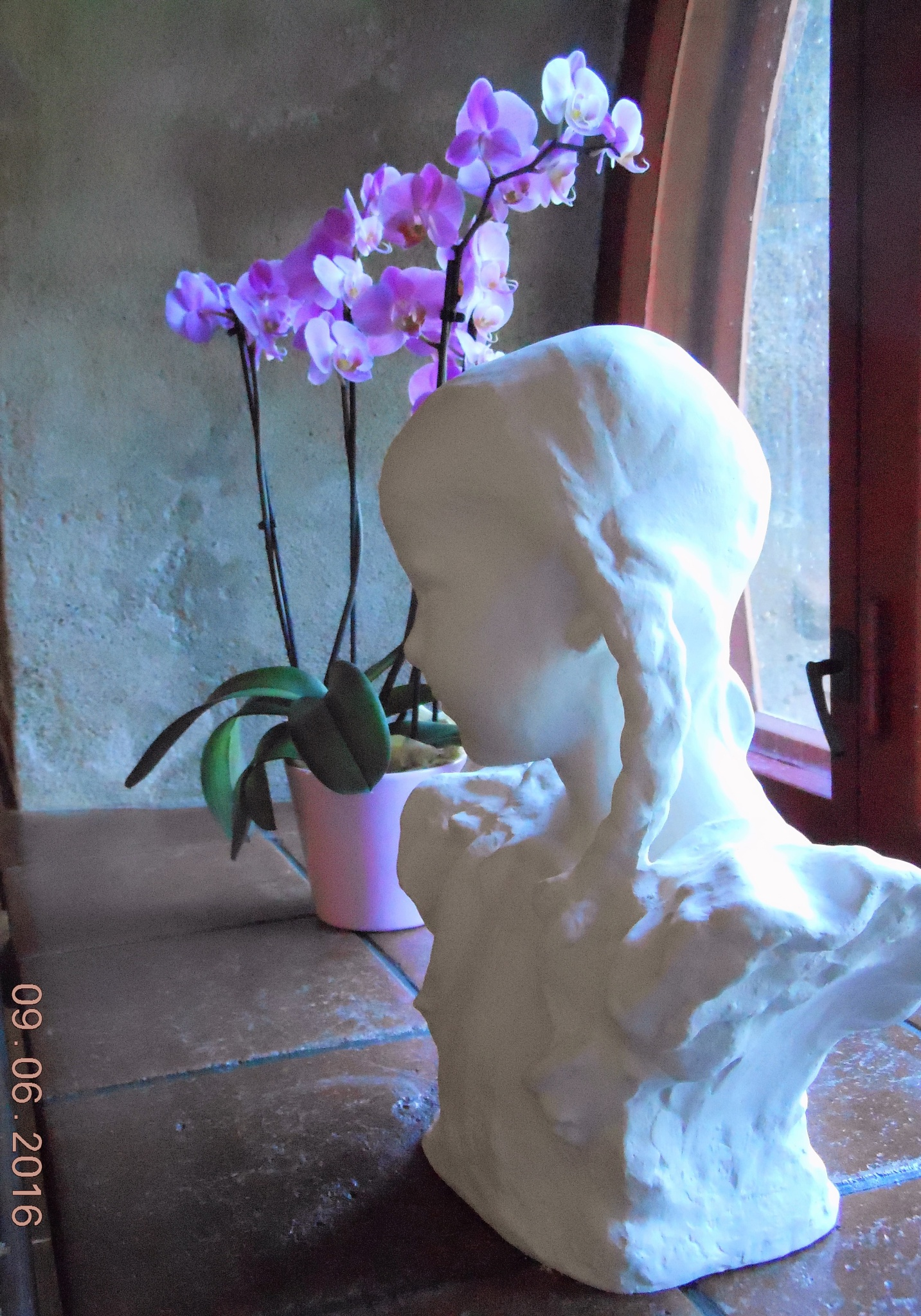 A Still Life: a Statue and an Orchid in Visavuori´s Cafe´ by ailahokkanen59