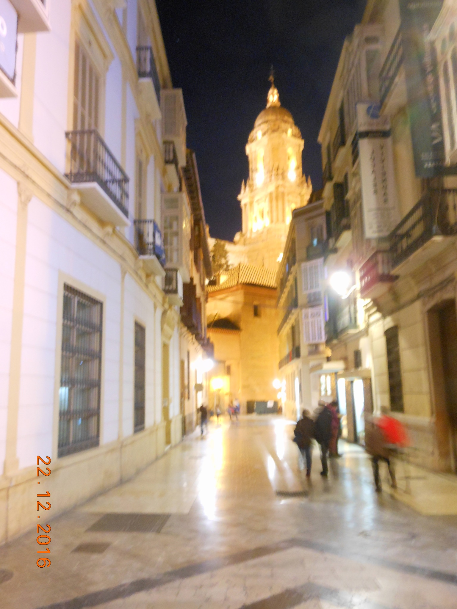 Malaga Centro in one evening in winter by ailahokkanen59