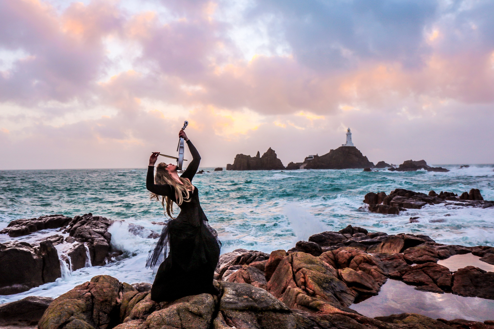 Photo in Portrait #lighthouse #violin #drama #sea #model