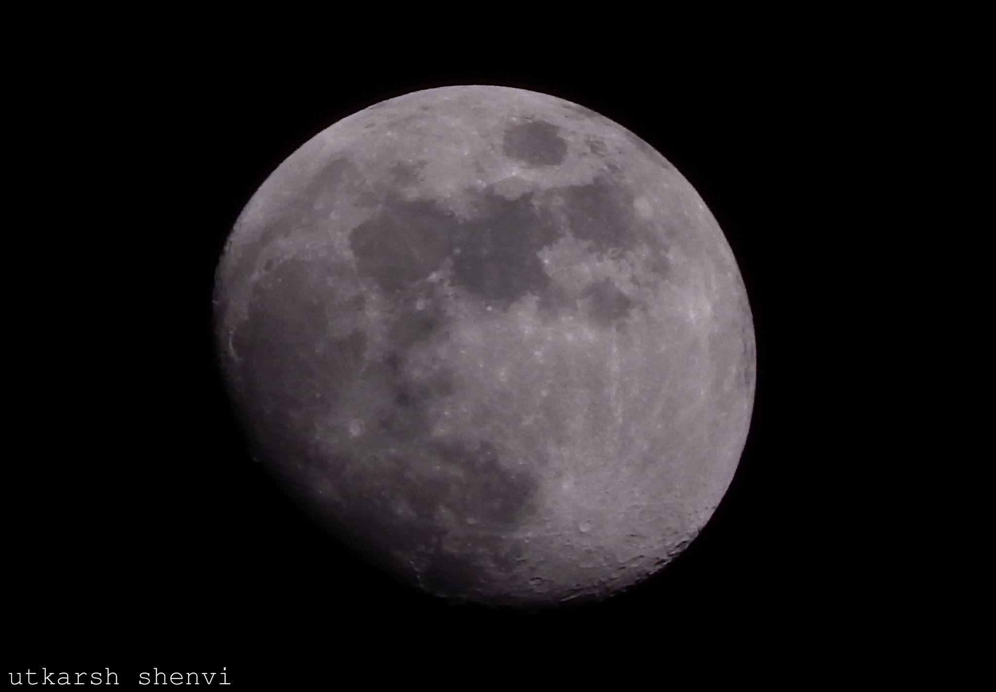 Earth's Moon by Utkarsh Shenvi