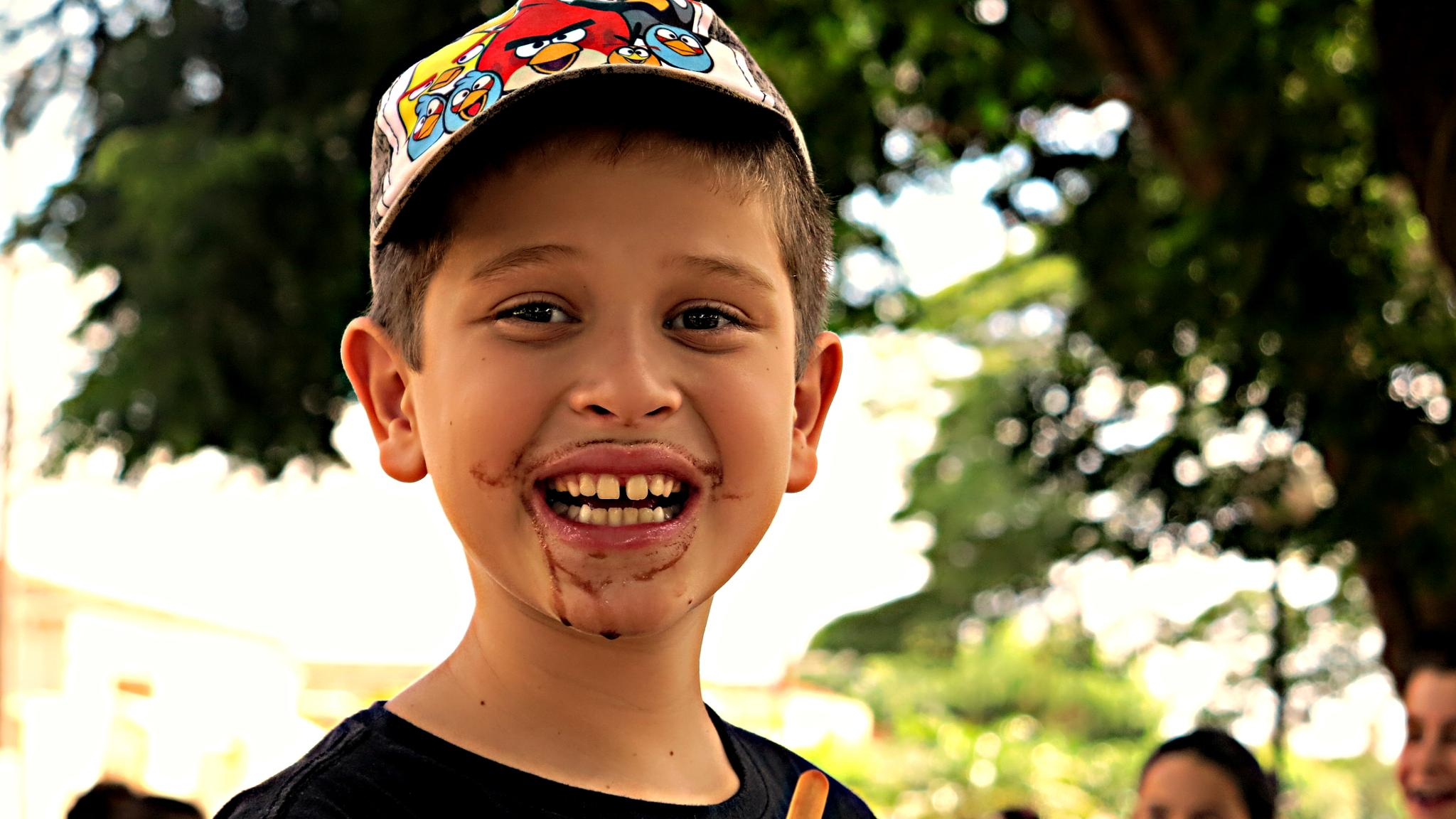 Bigodão de sorvete, hhehehehehehe by denizelucinda