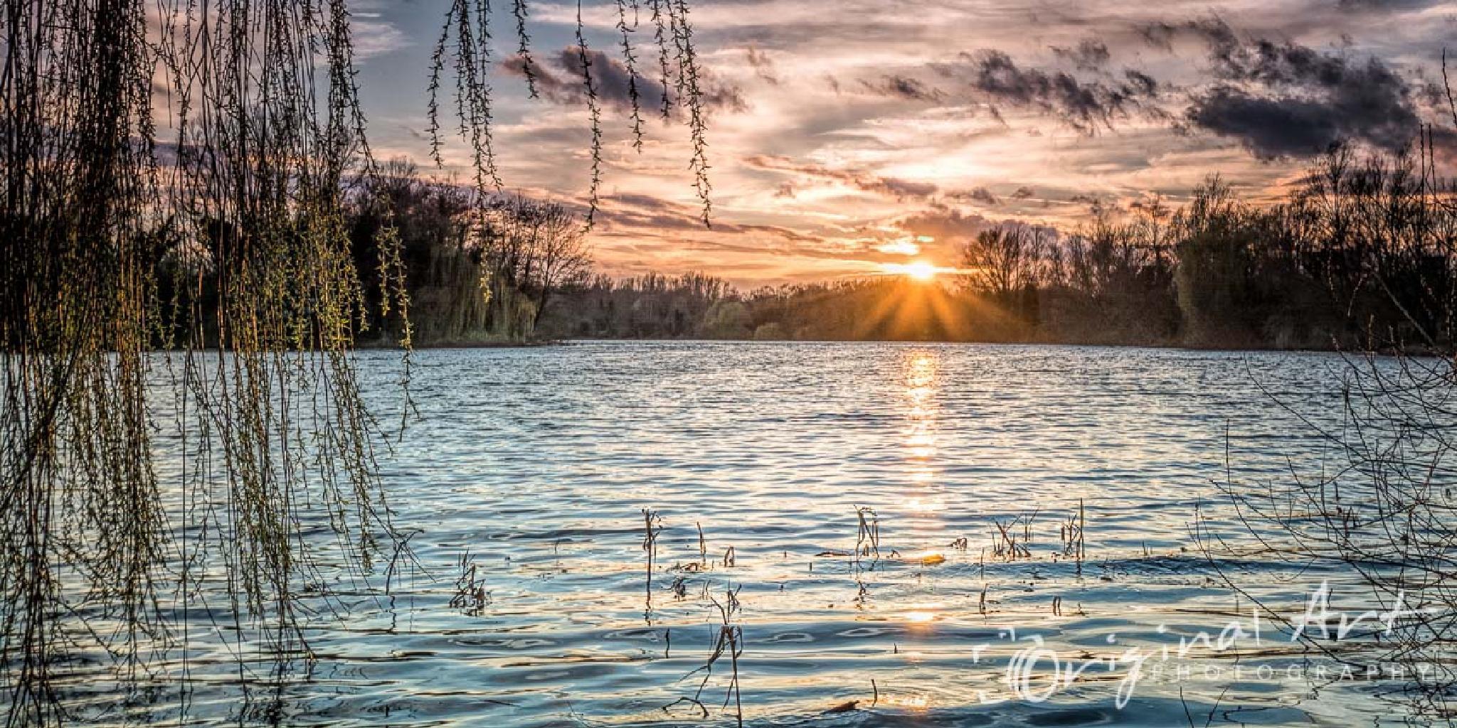 UEA Broad sunset by JoeLenton