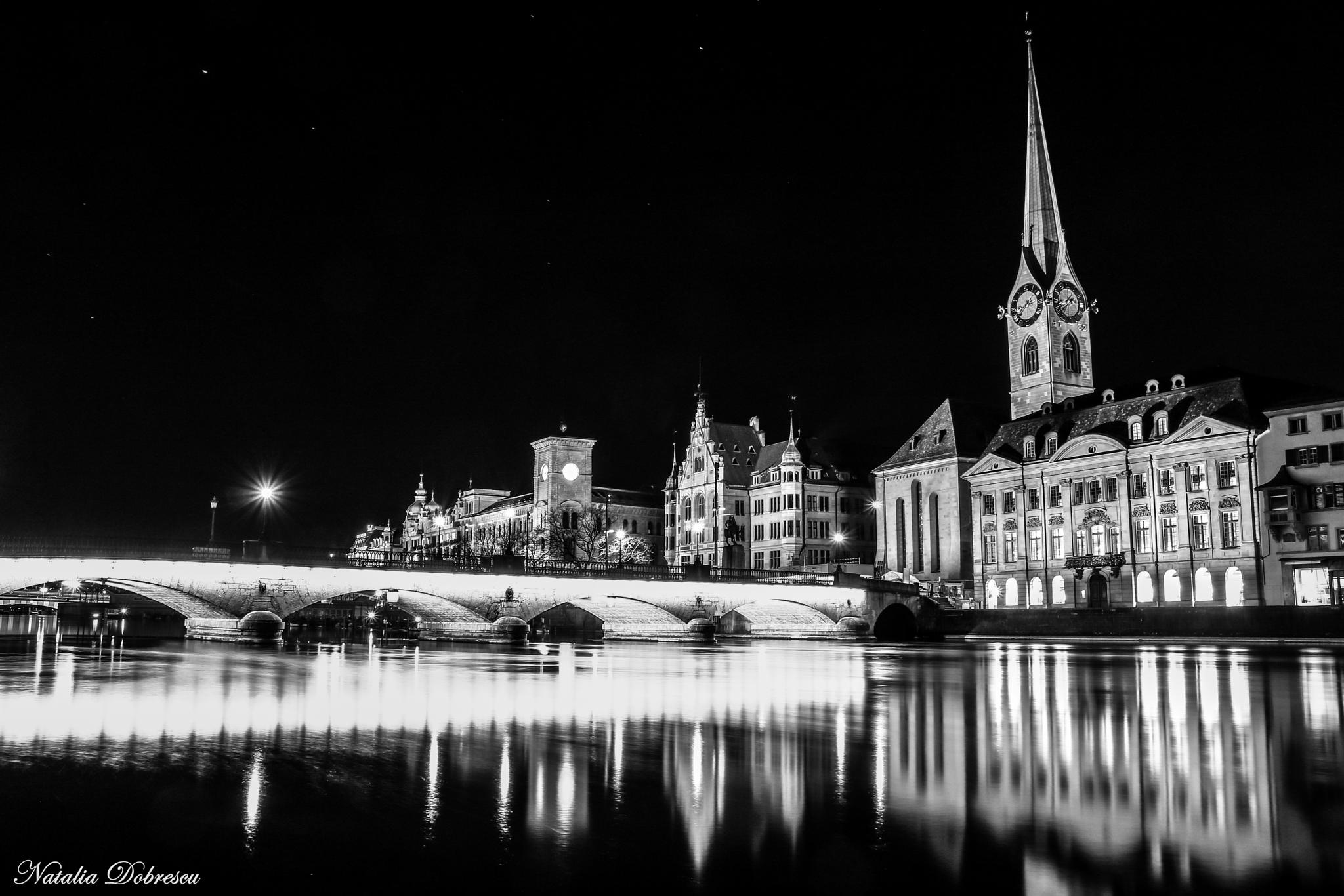 Black and white Zurich by Natalia Photography