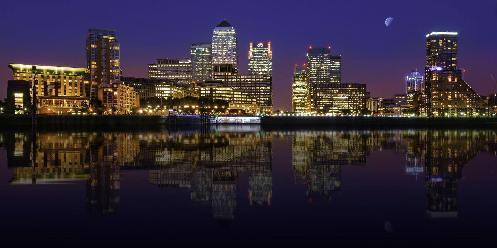 Canary Wharf Reflection by Karl Shepheard