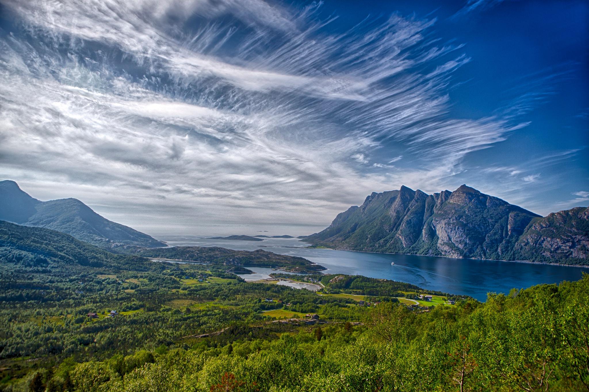 Beautiful clouds ツ by Odd Rune Wang