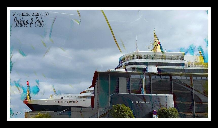 Cherbourg en Cotentin. ..Queen Elisabeth  2...l'avant du bateau  by ςɑʀɨиє єт єʀɨς ɑʀтɨsтєs ρɦღтღɢʀɑρɦєs