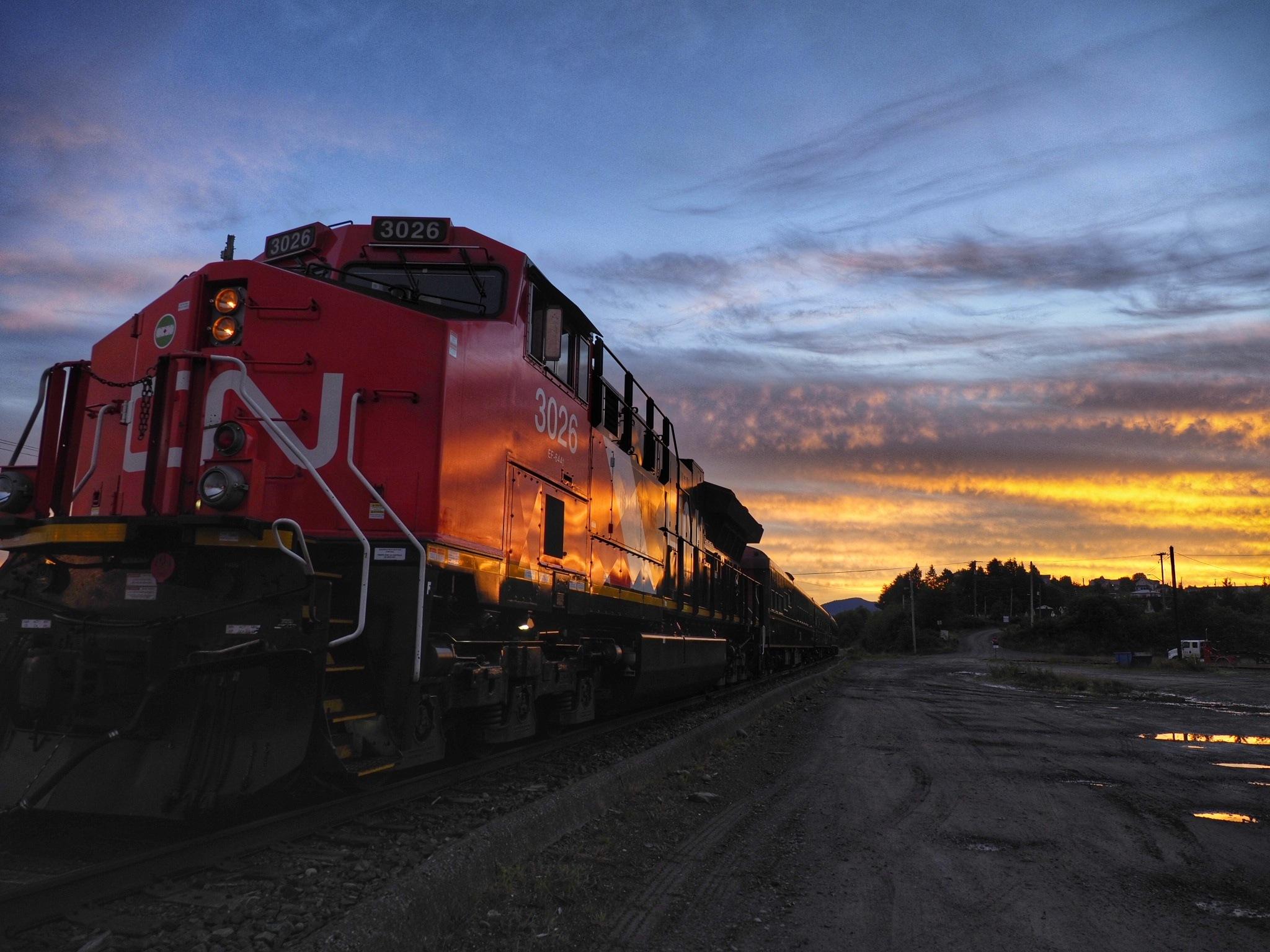 locomotive sunrise by Evan Spellman